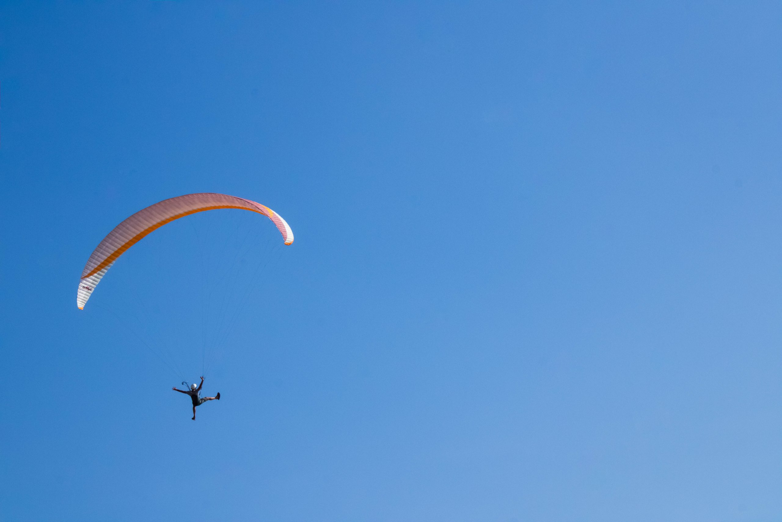 Powered Paragliding in a Clear Sky