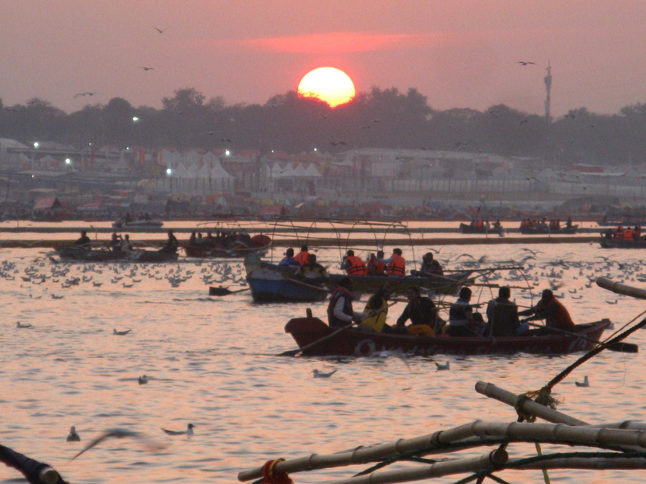 Prayagraj during evening hours