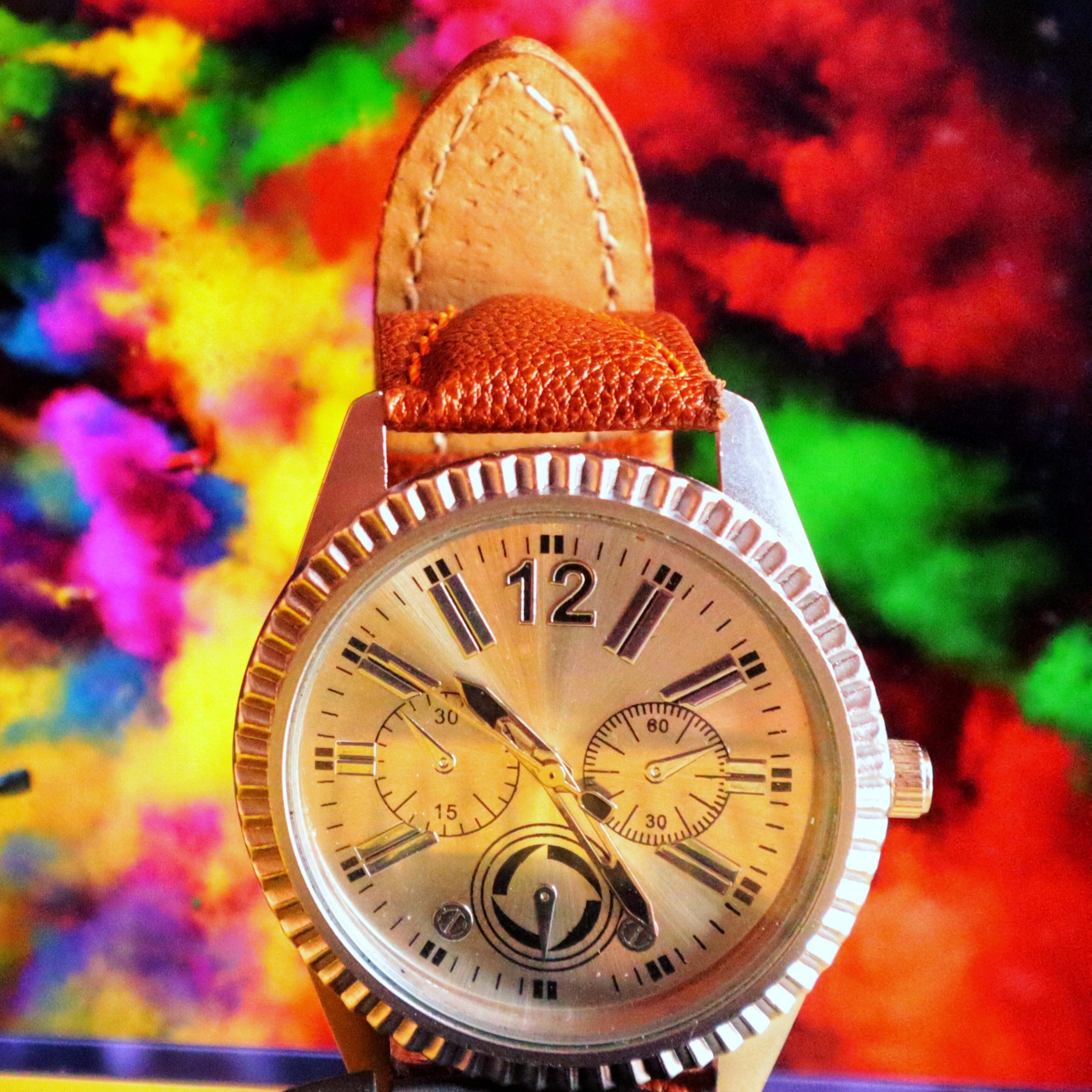A picture of a watch foe advertisement.
