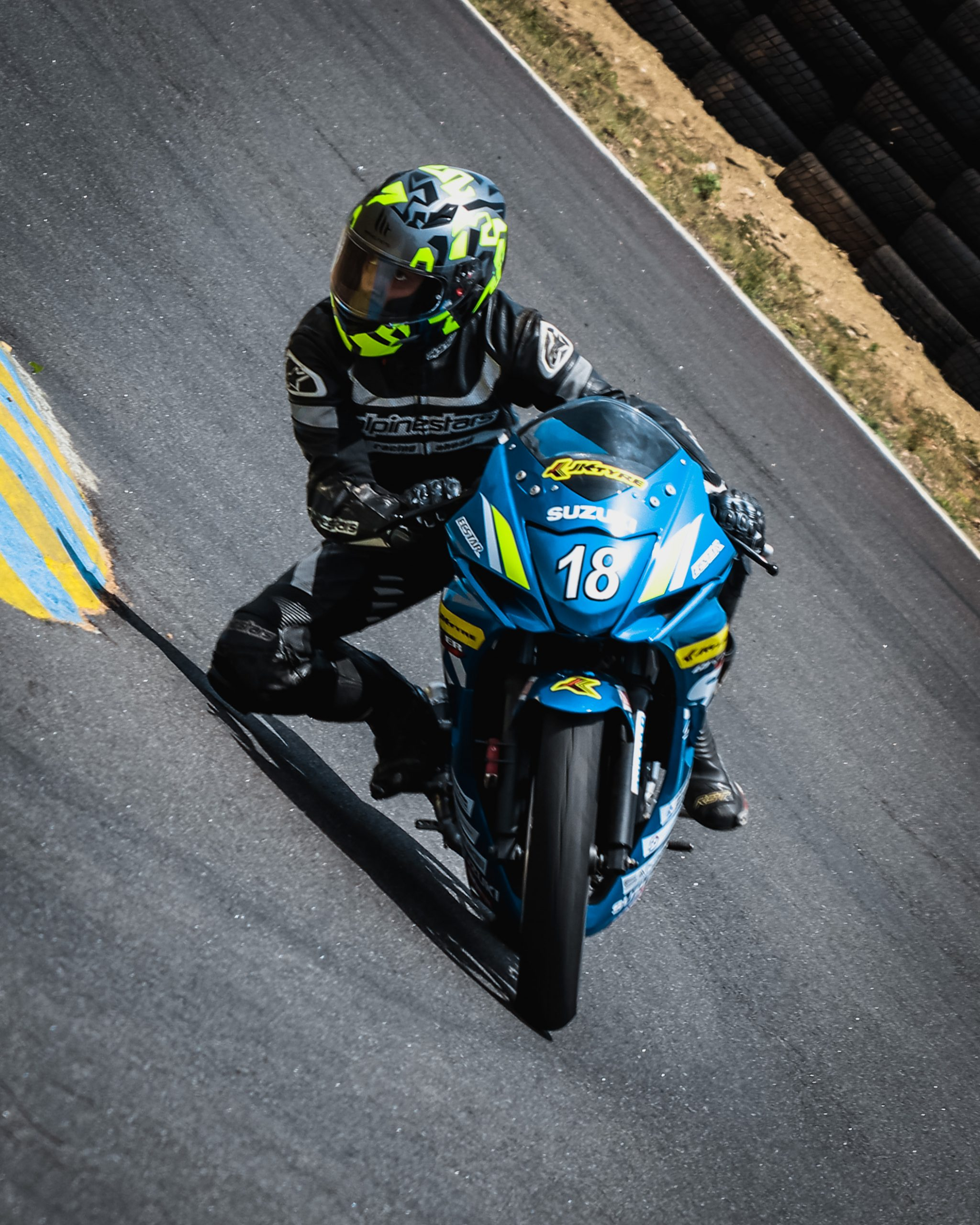 Racer on the Superbike Racing
