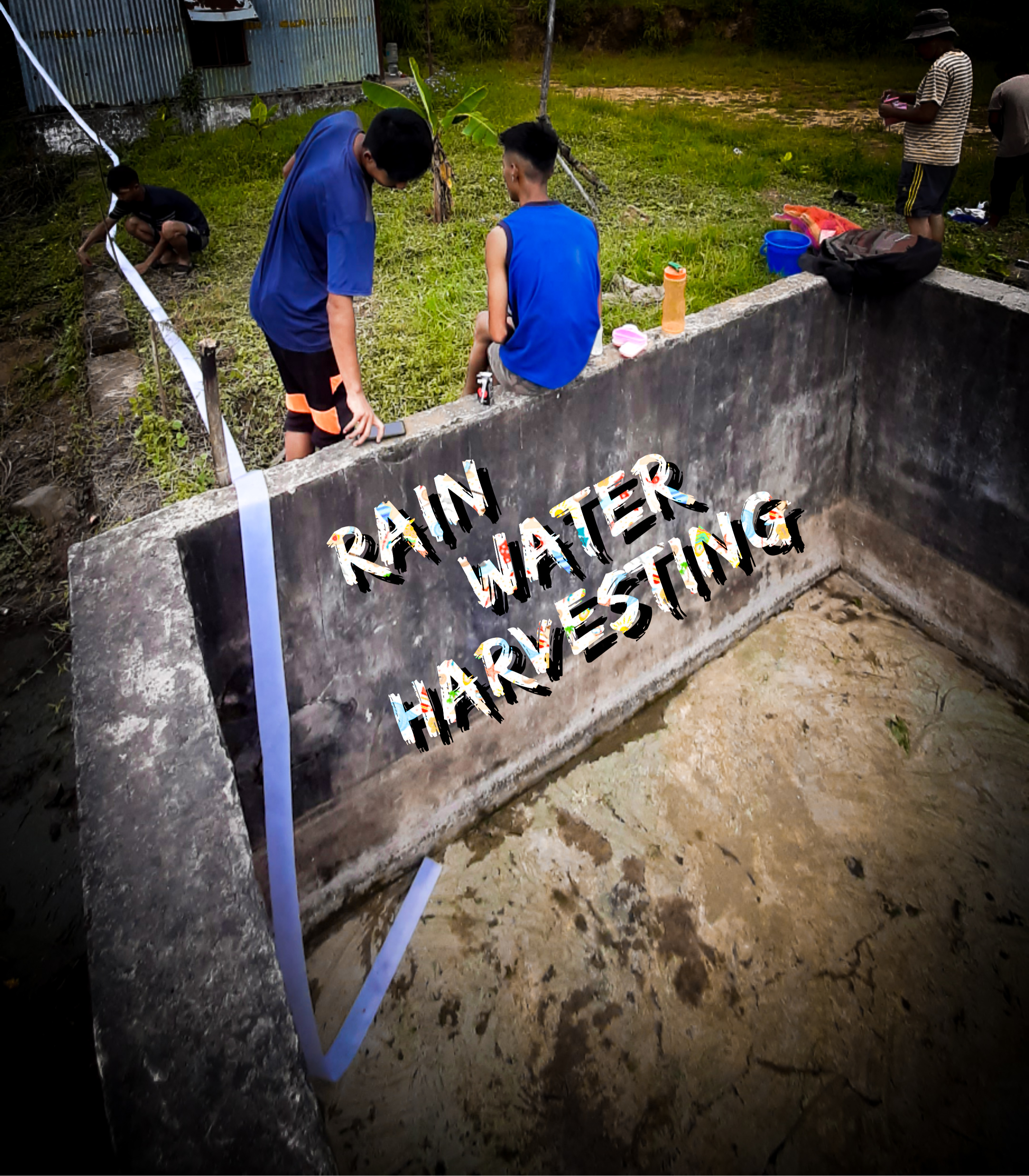 Rain water Harvesting from recycling tank