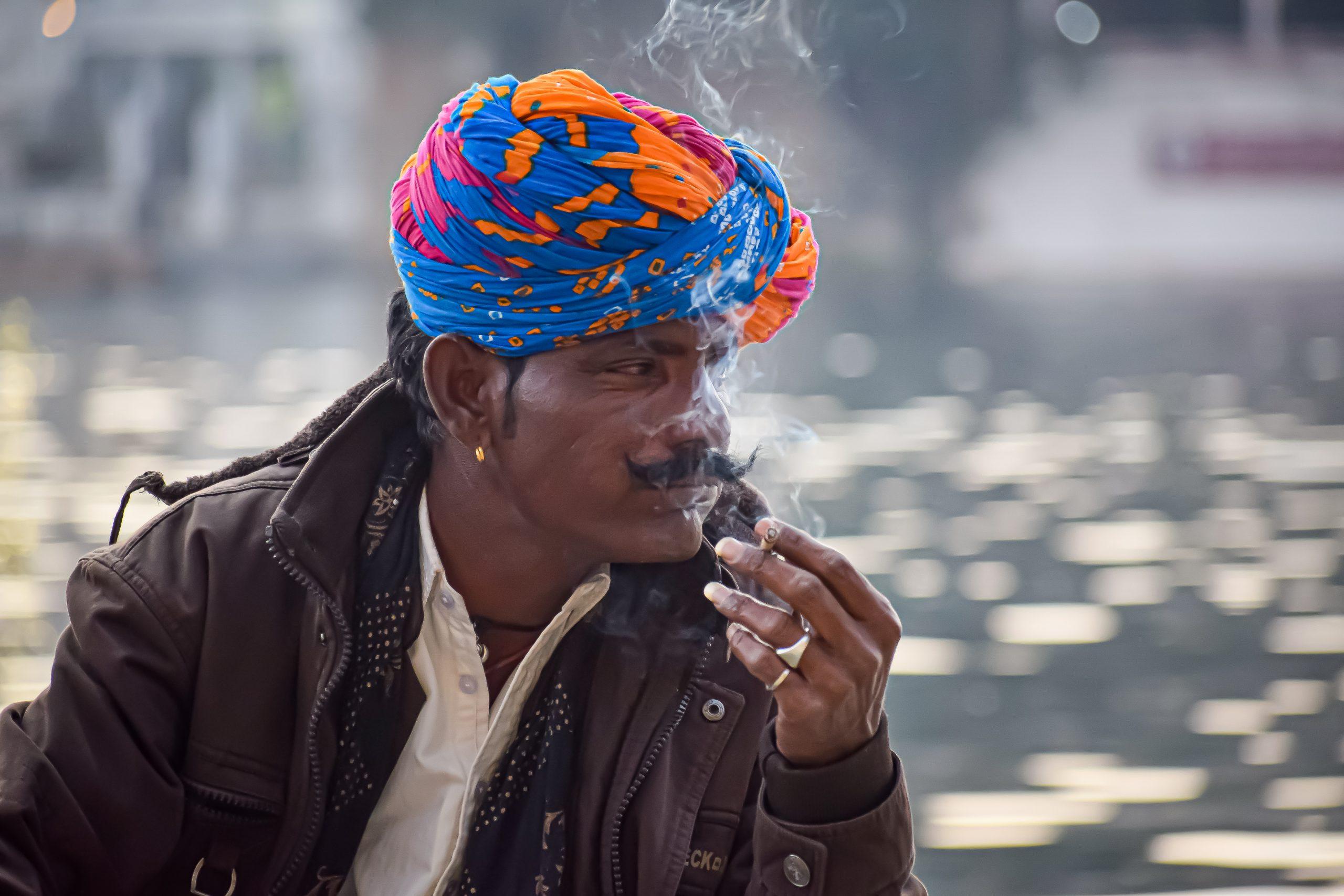A man wearing an ethnic turban