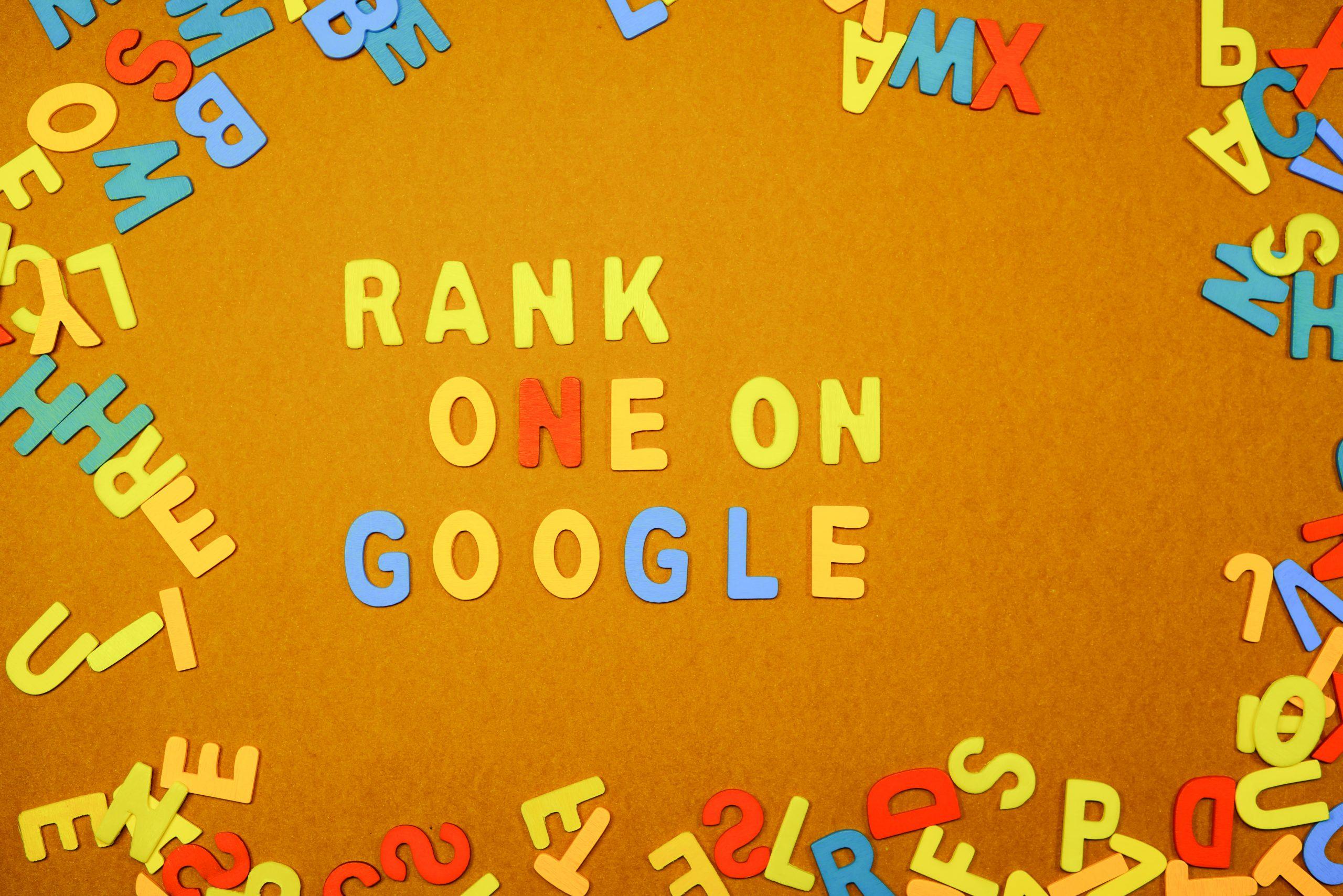 Rank one on google