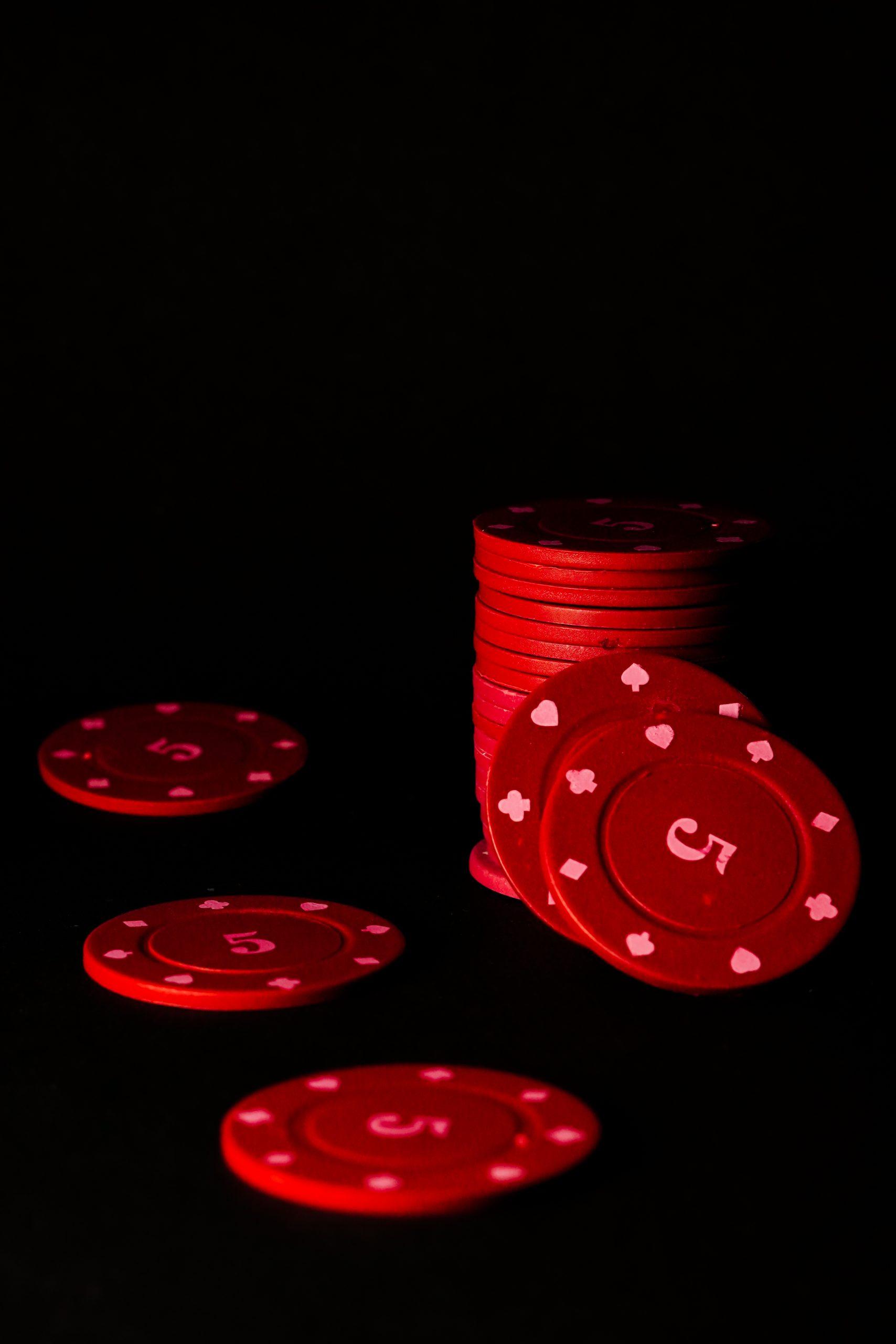 Red Poker Chips