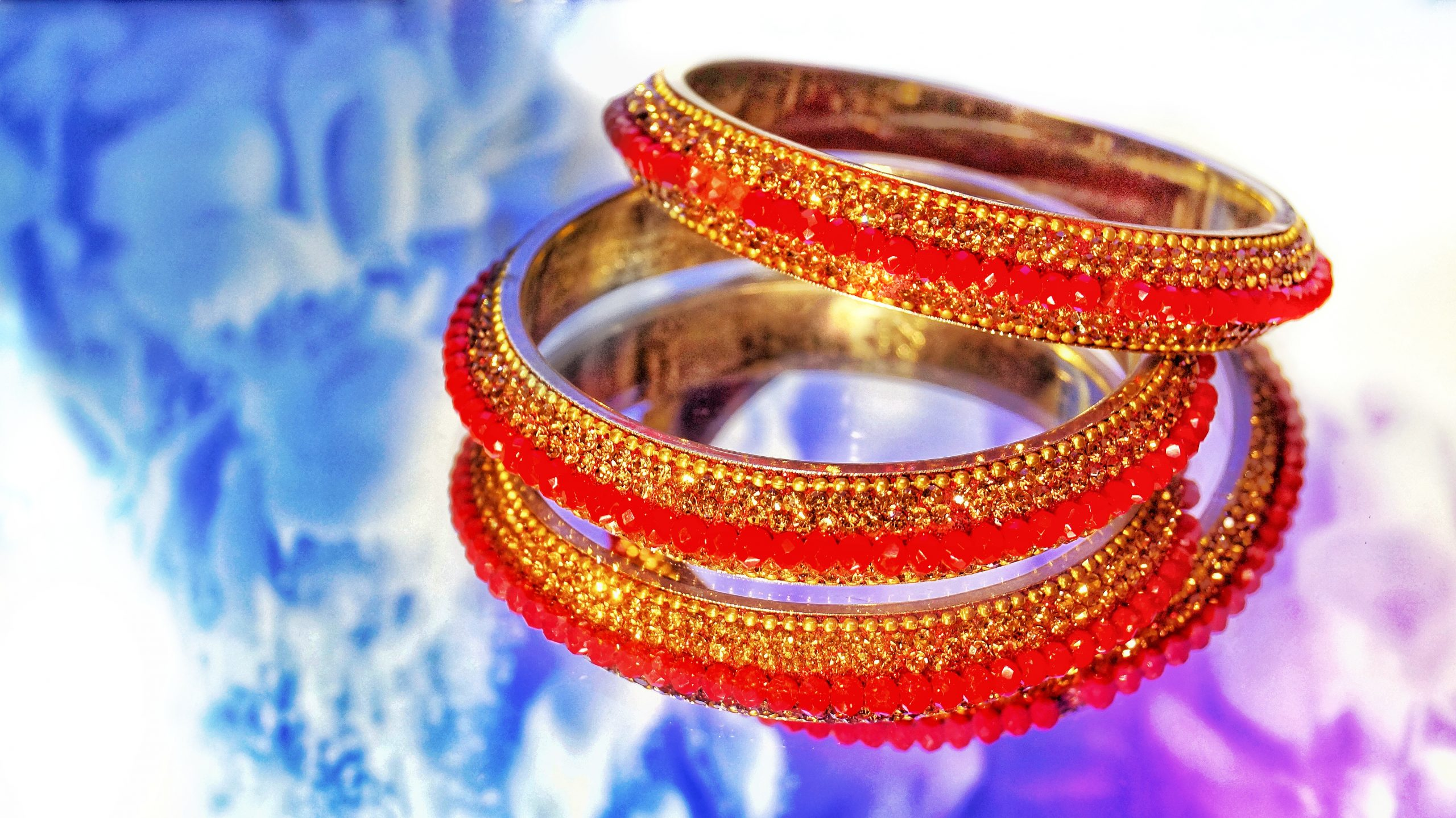 Red hand bangles