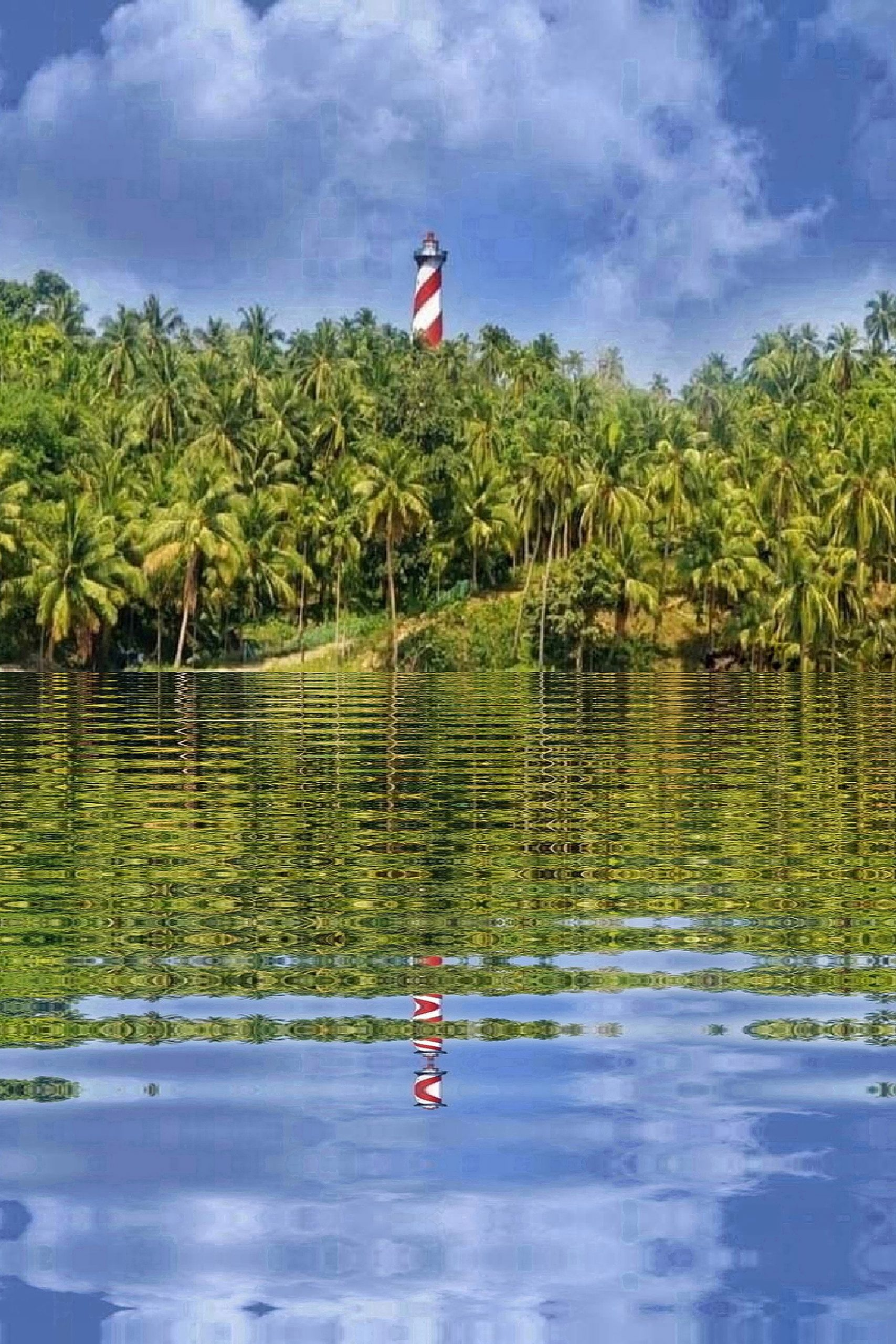 Reflection of Lighthouse North Bay Andaman