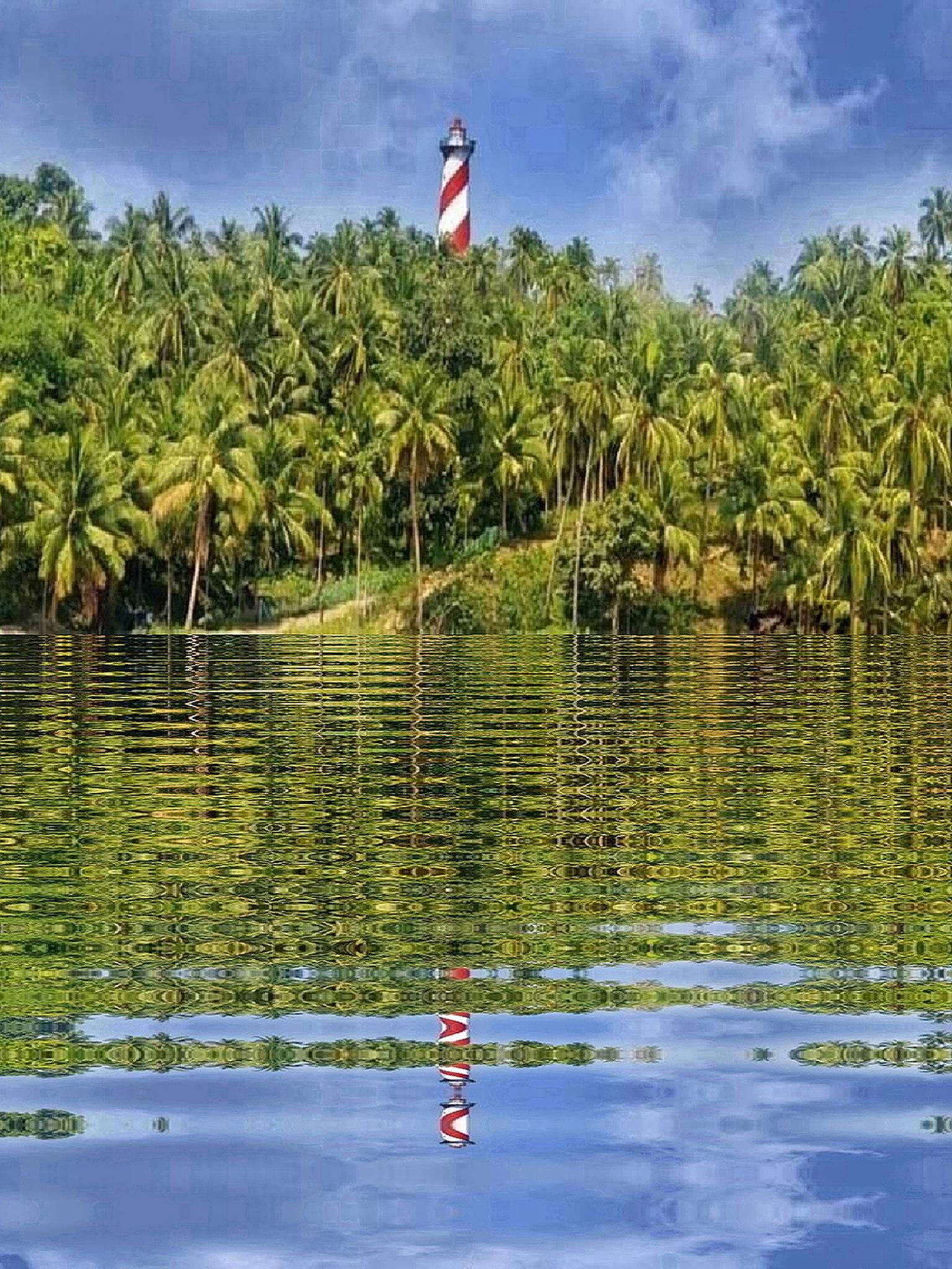 Reflection of Lighthouse North Bay Andaman