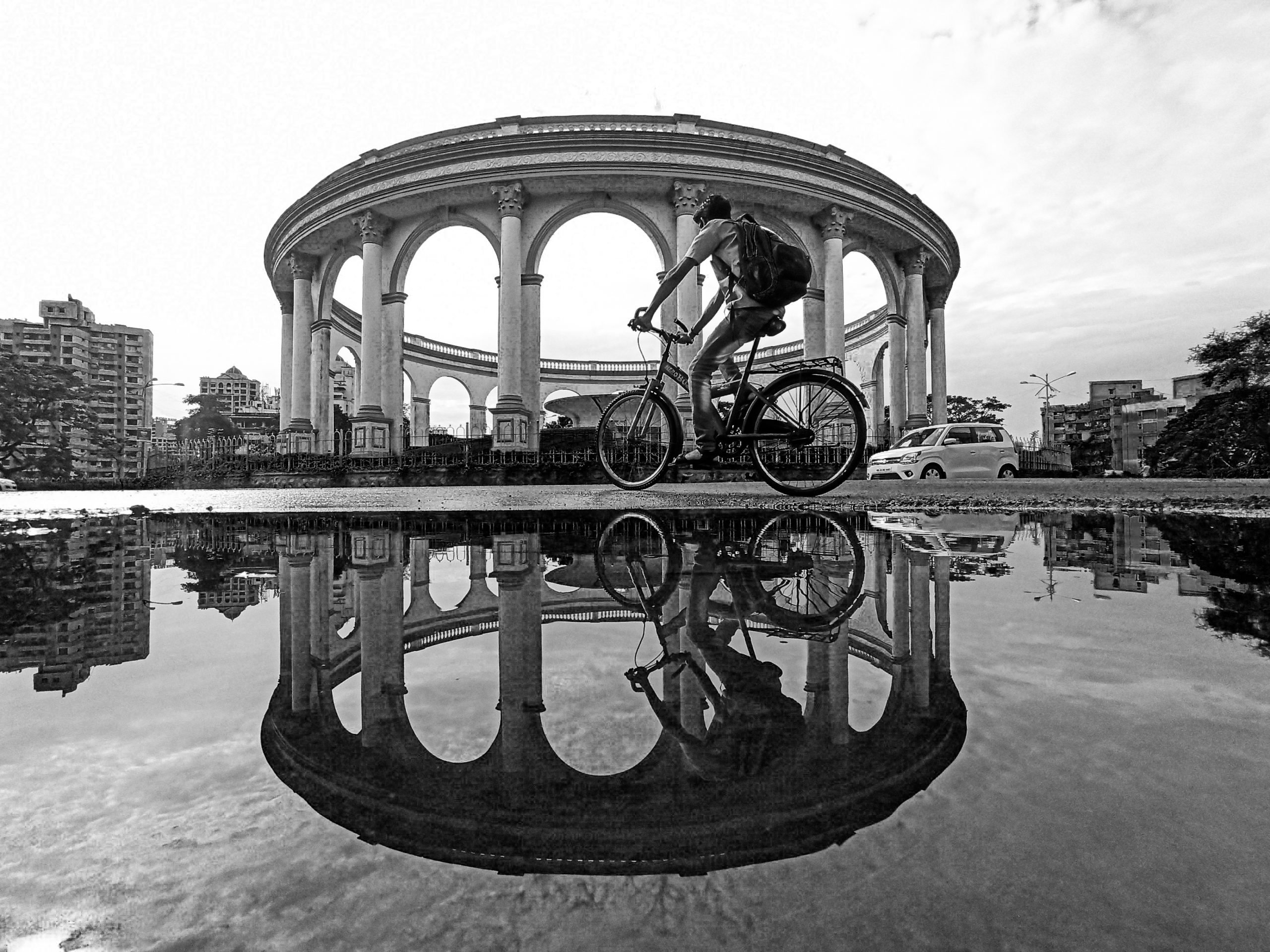 Reflection of things in water