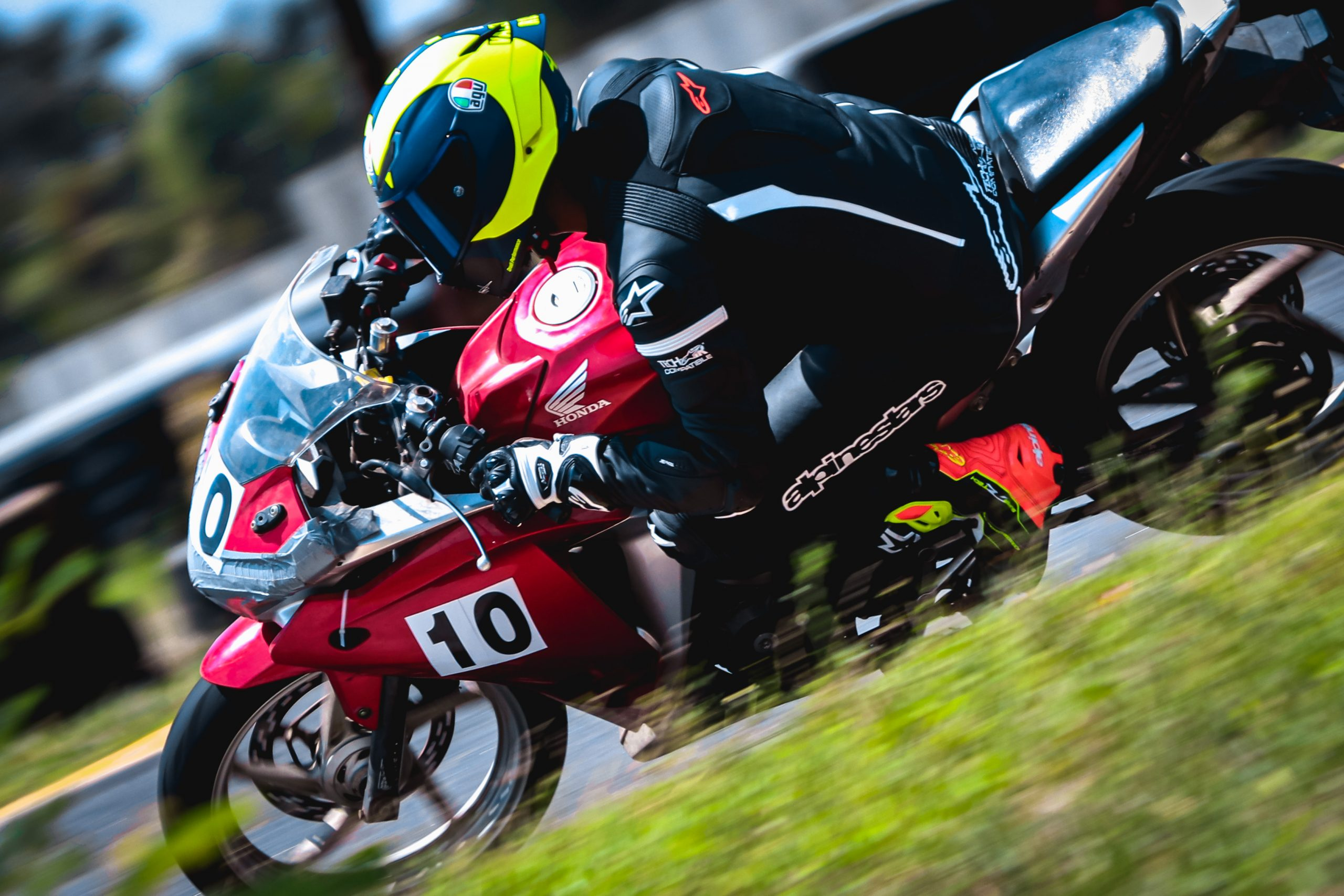 Rider in Race Track