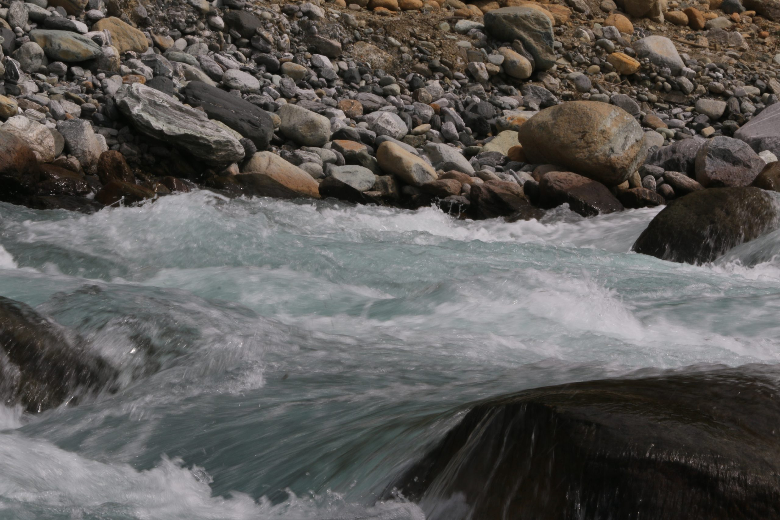 Strong rapids of a river