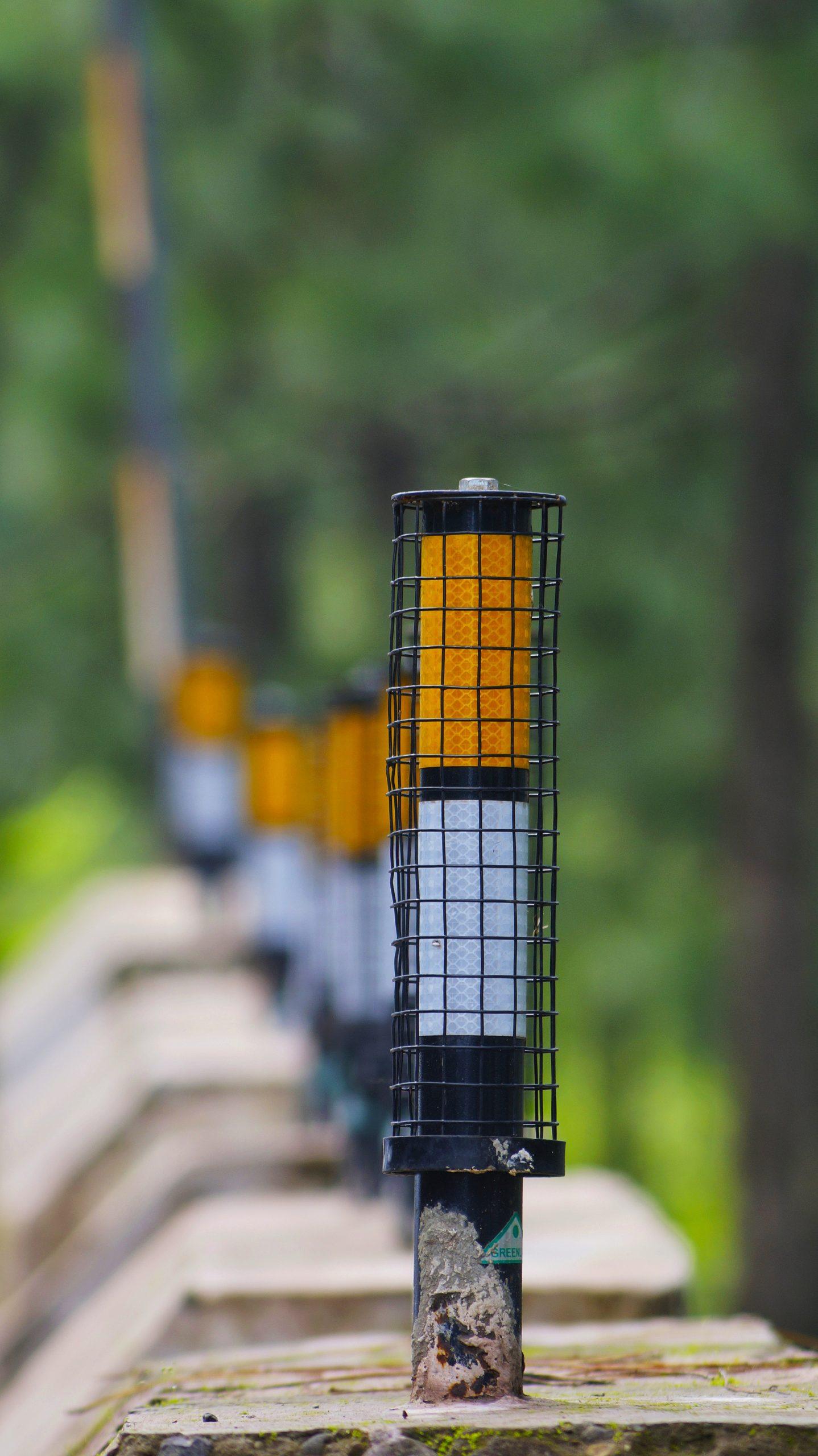 Roadside reflector portrait
