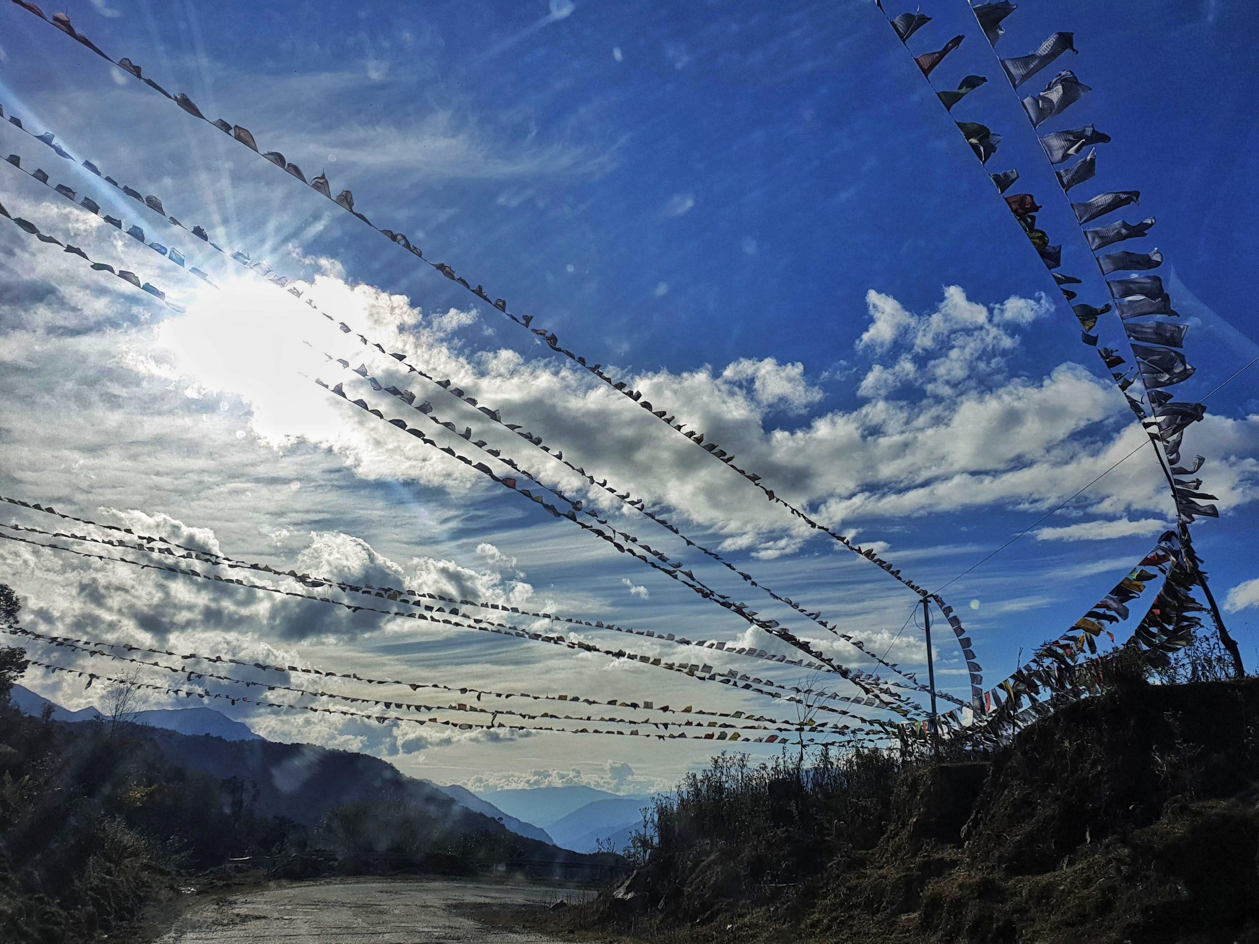 Roadway between Hills - Tawang
