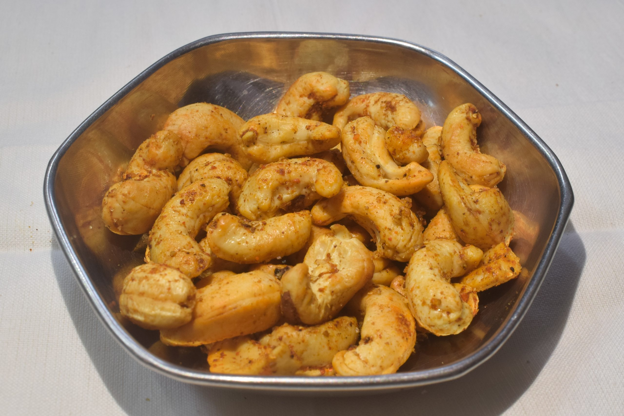 Roasted cashew in a plate