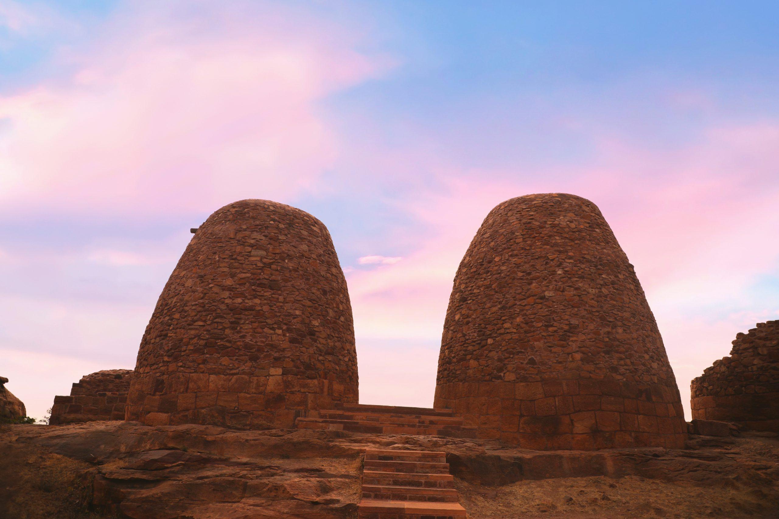 Rock structures in Badami, Karnataka