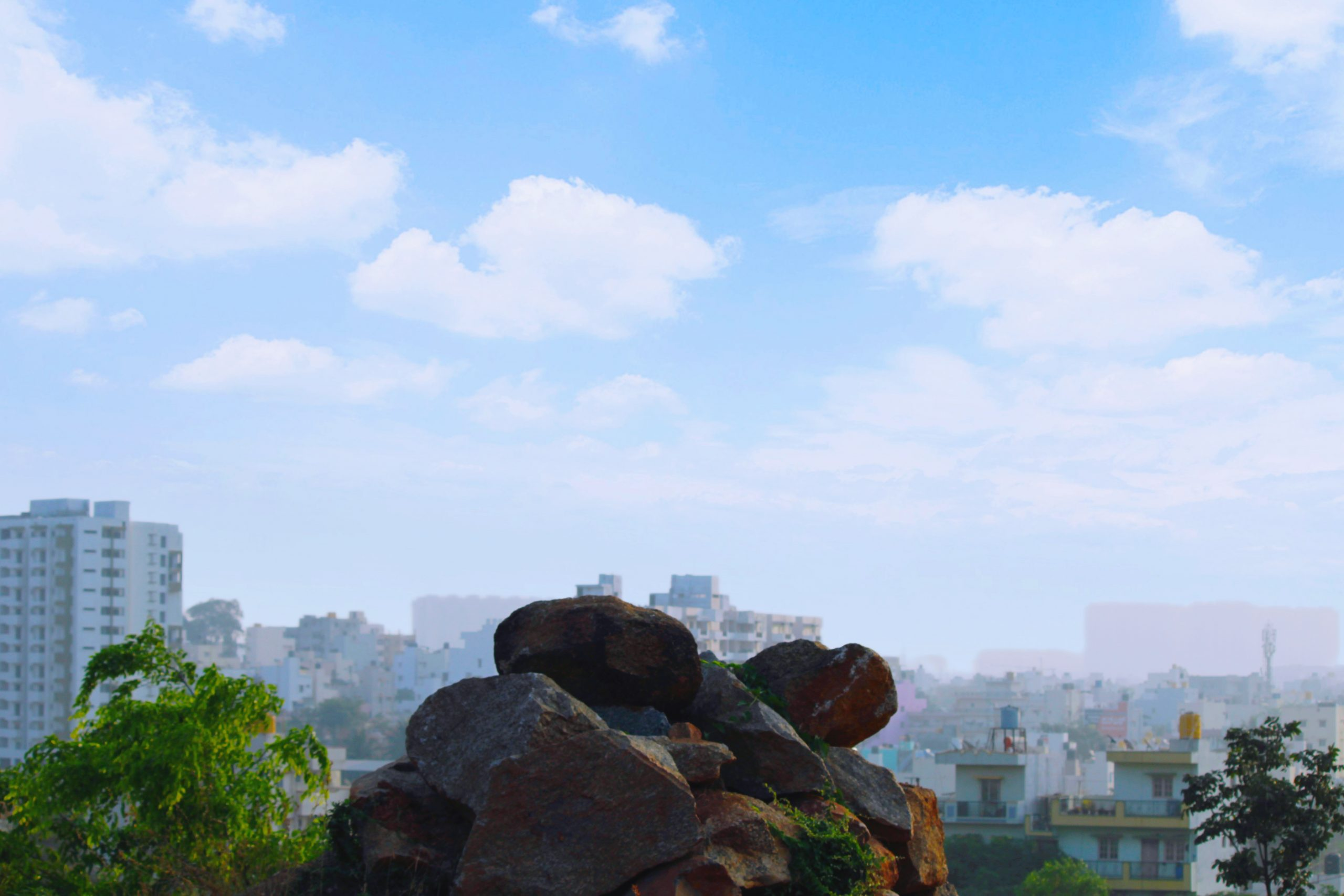 Rocks in front of the City