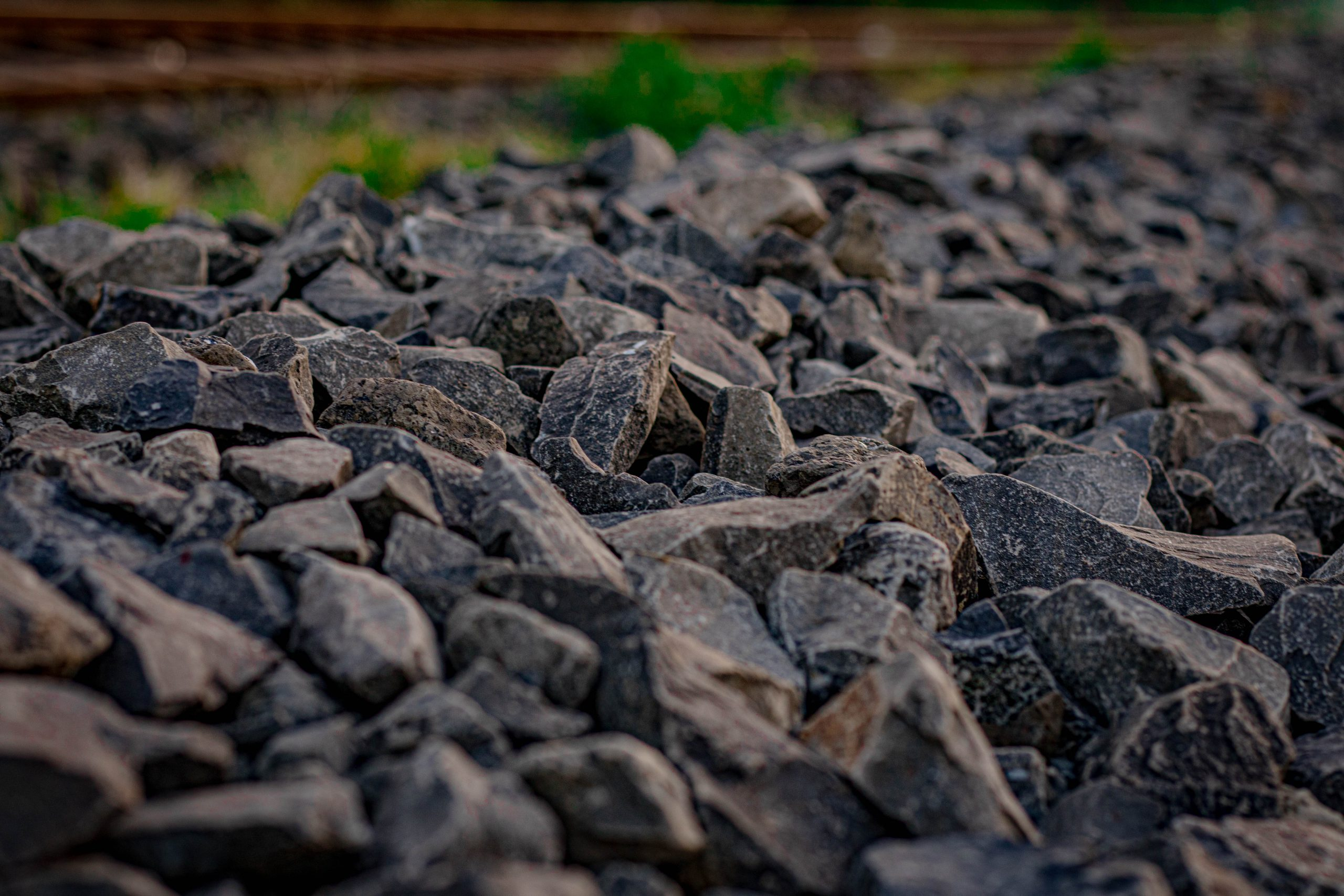 A Rubble in Railway Side on Focus