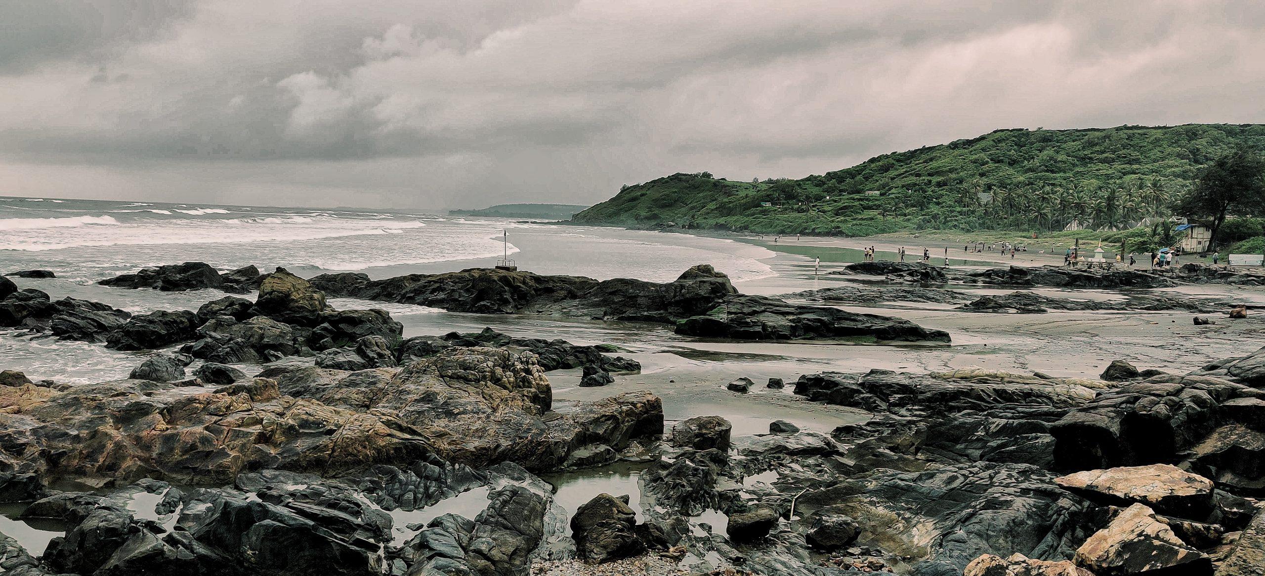 Rocks in the Sea Shore