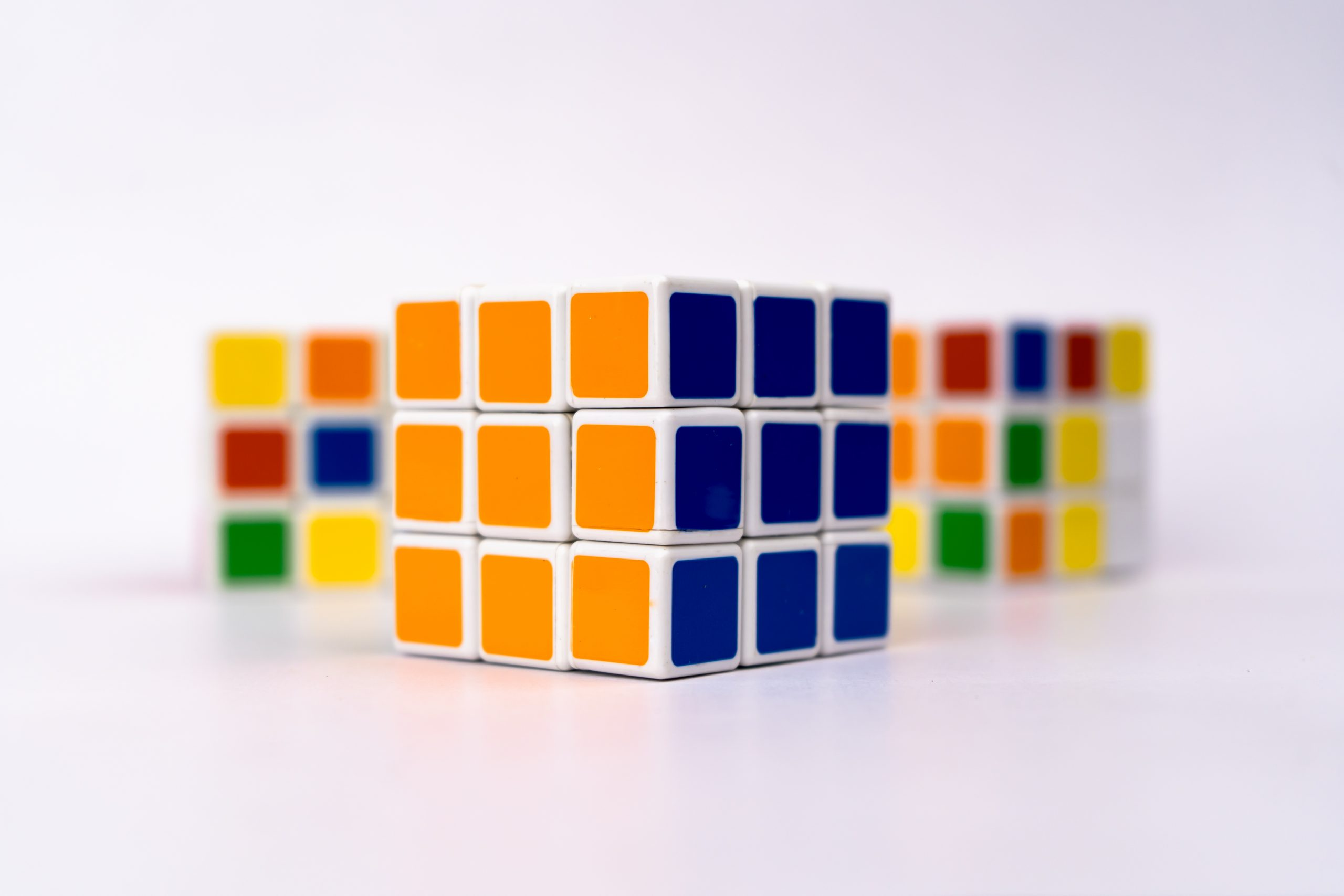 Rubik's Cube in focus