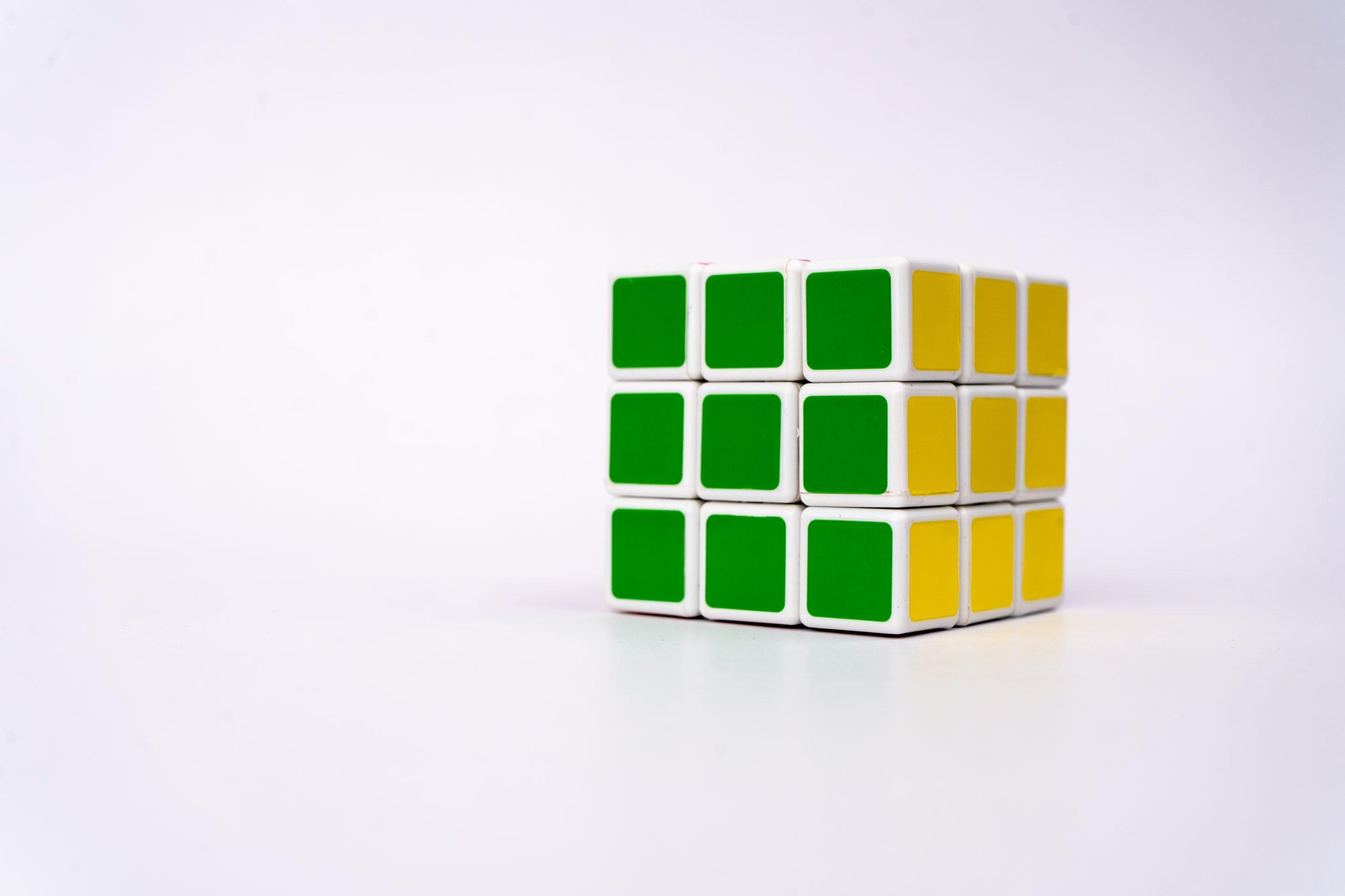 Rubik's cube side view