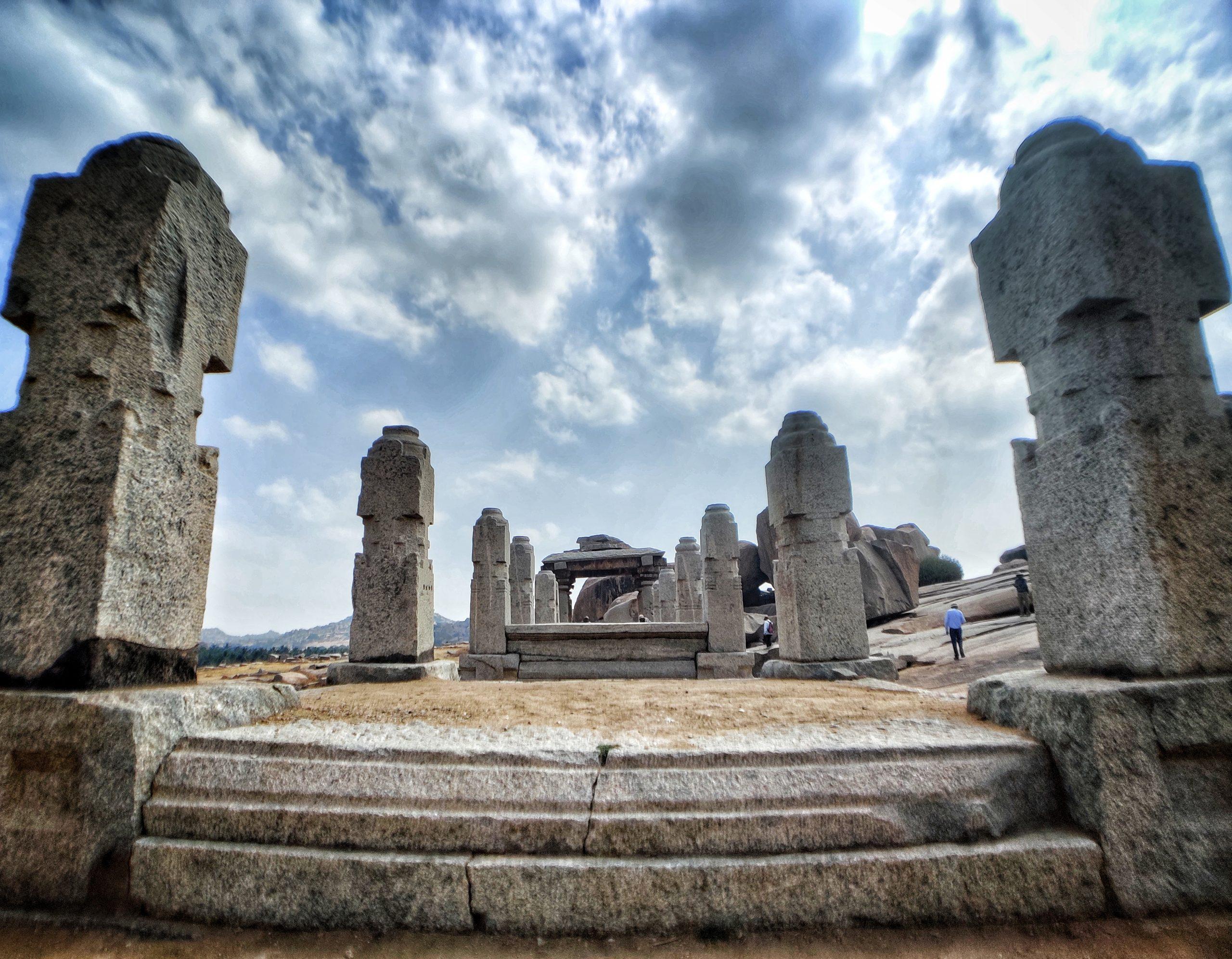 Ruins of Hemakuta hills, Hampi