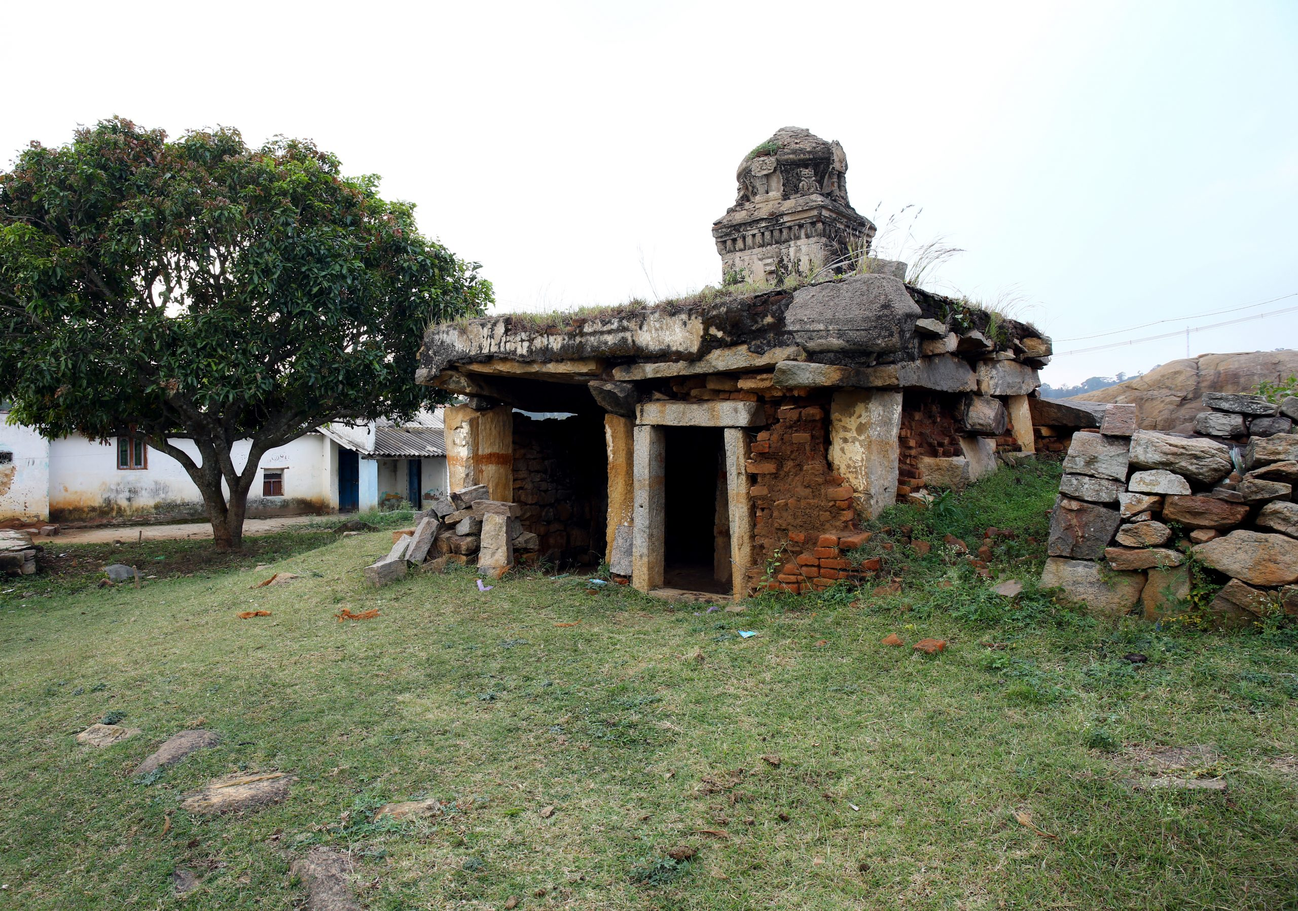 Ruins of old indian temple