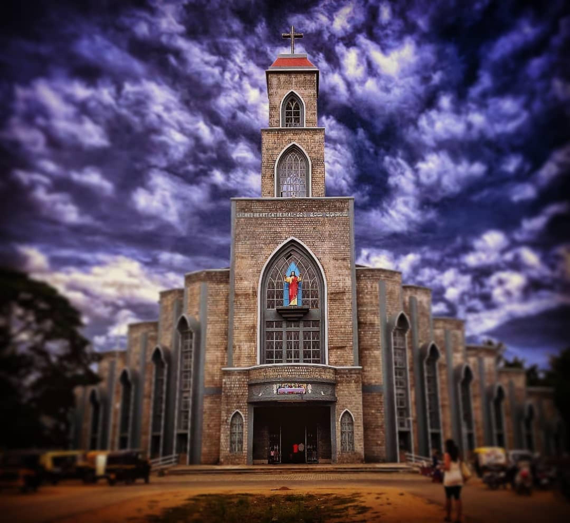 Sacred Heart catholic church Shimoga At Karnataka.
