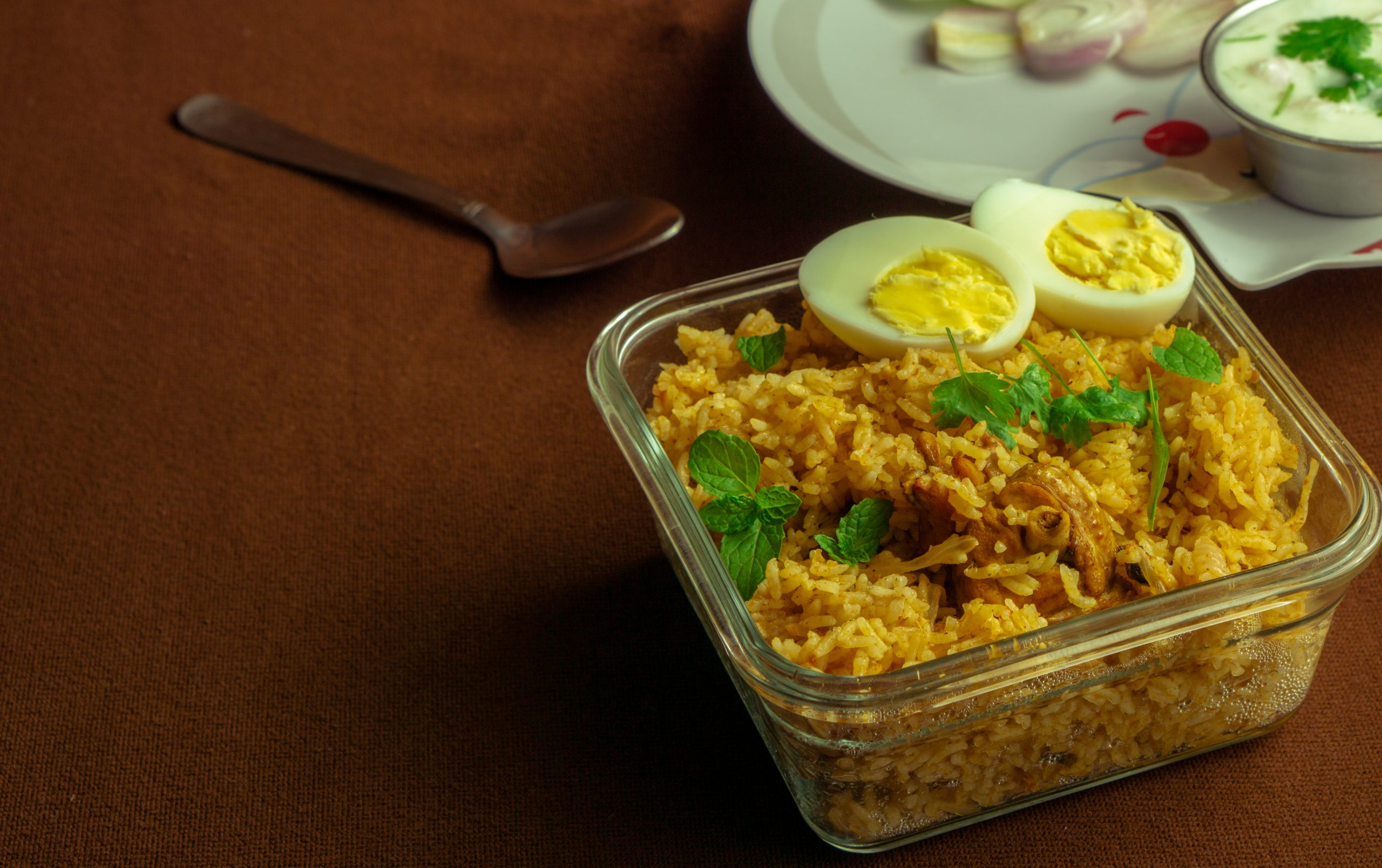 Saffron Rice on the Table