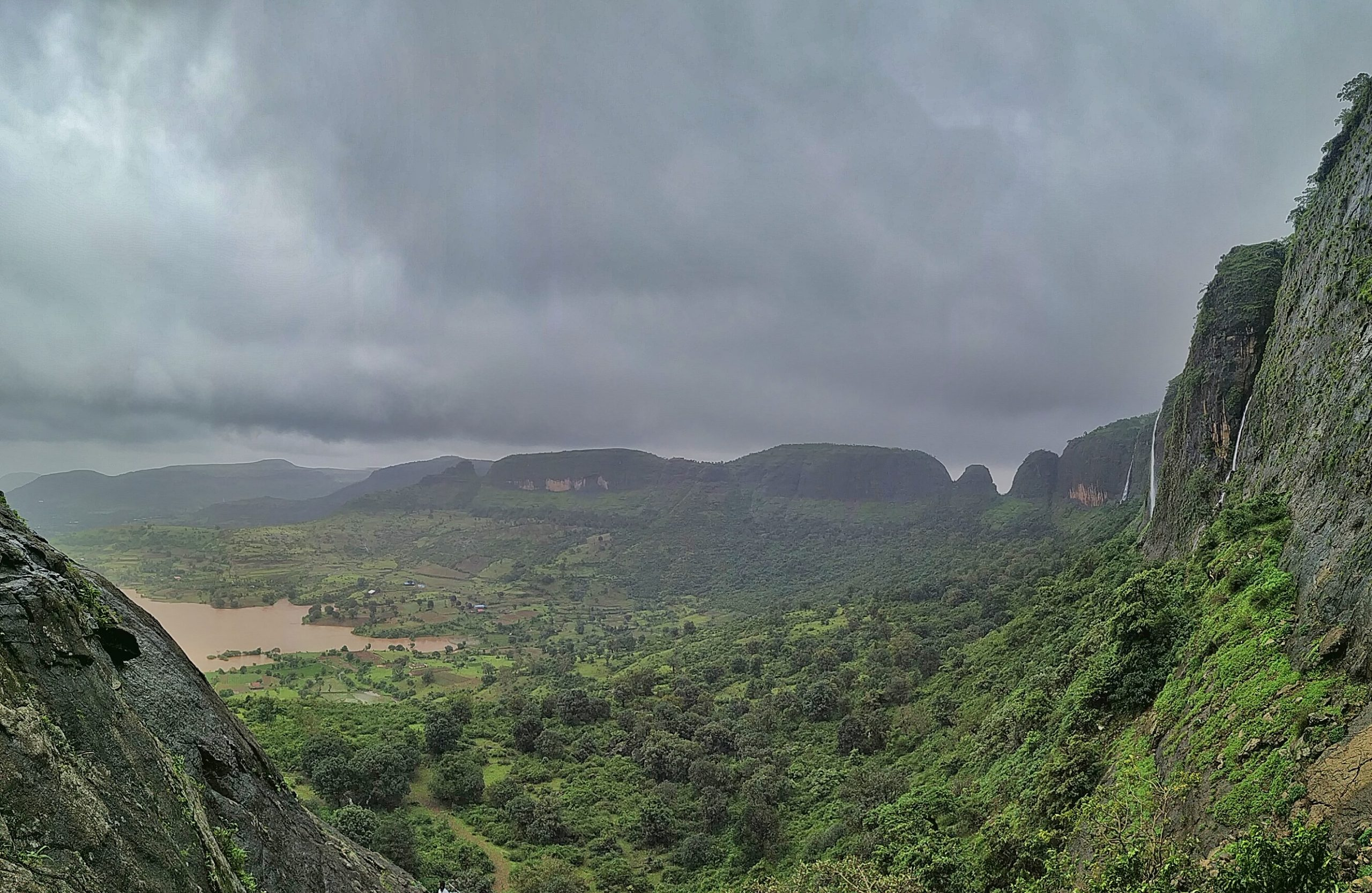 Sahyadri mountain range at Anjaneri