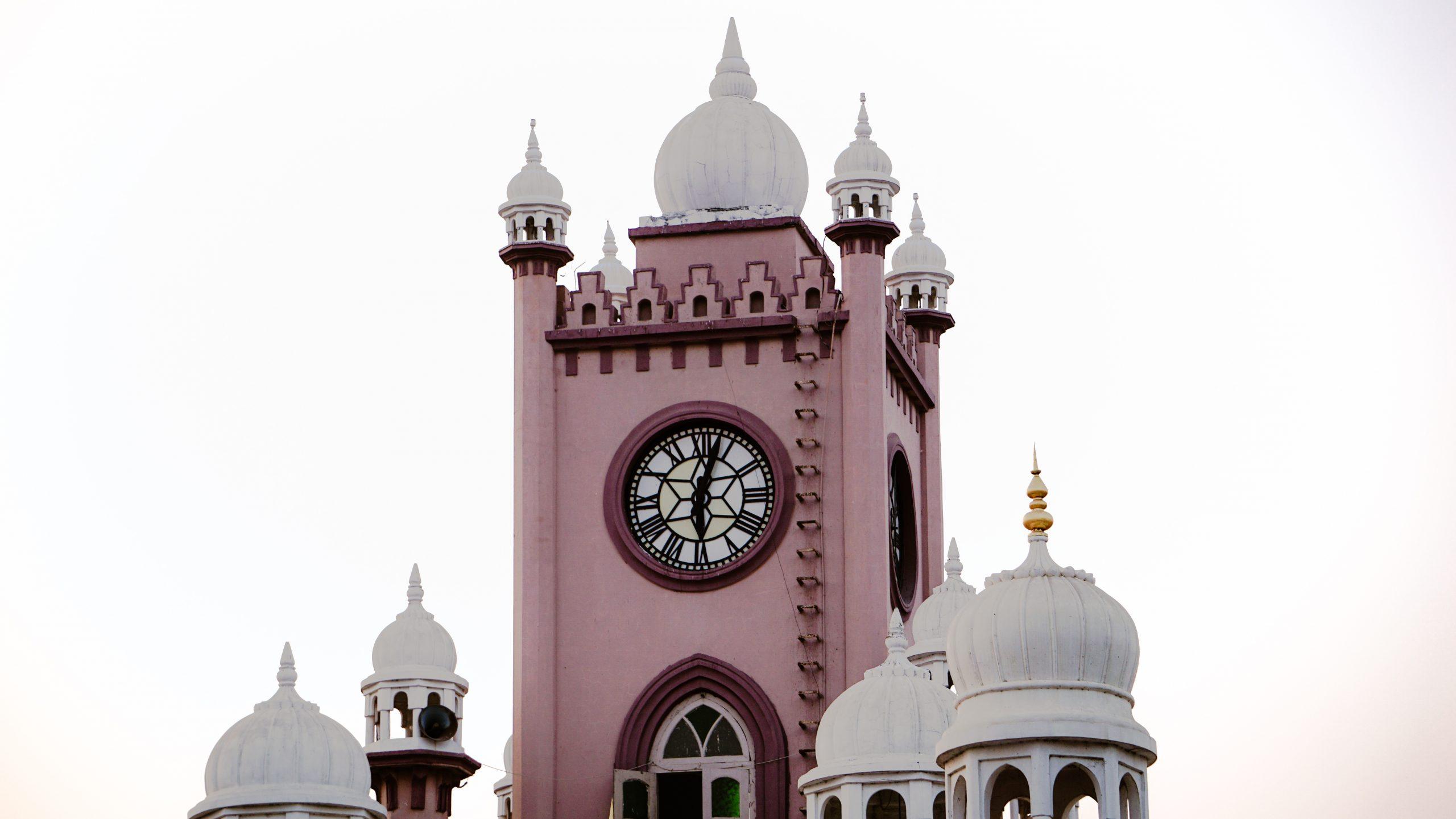 Saifee Clock Tower in Jamnagar, Gujarat, India,