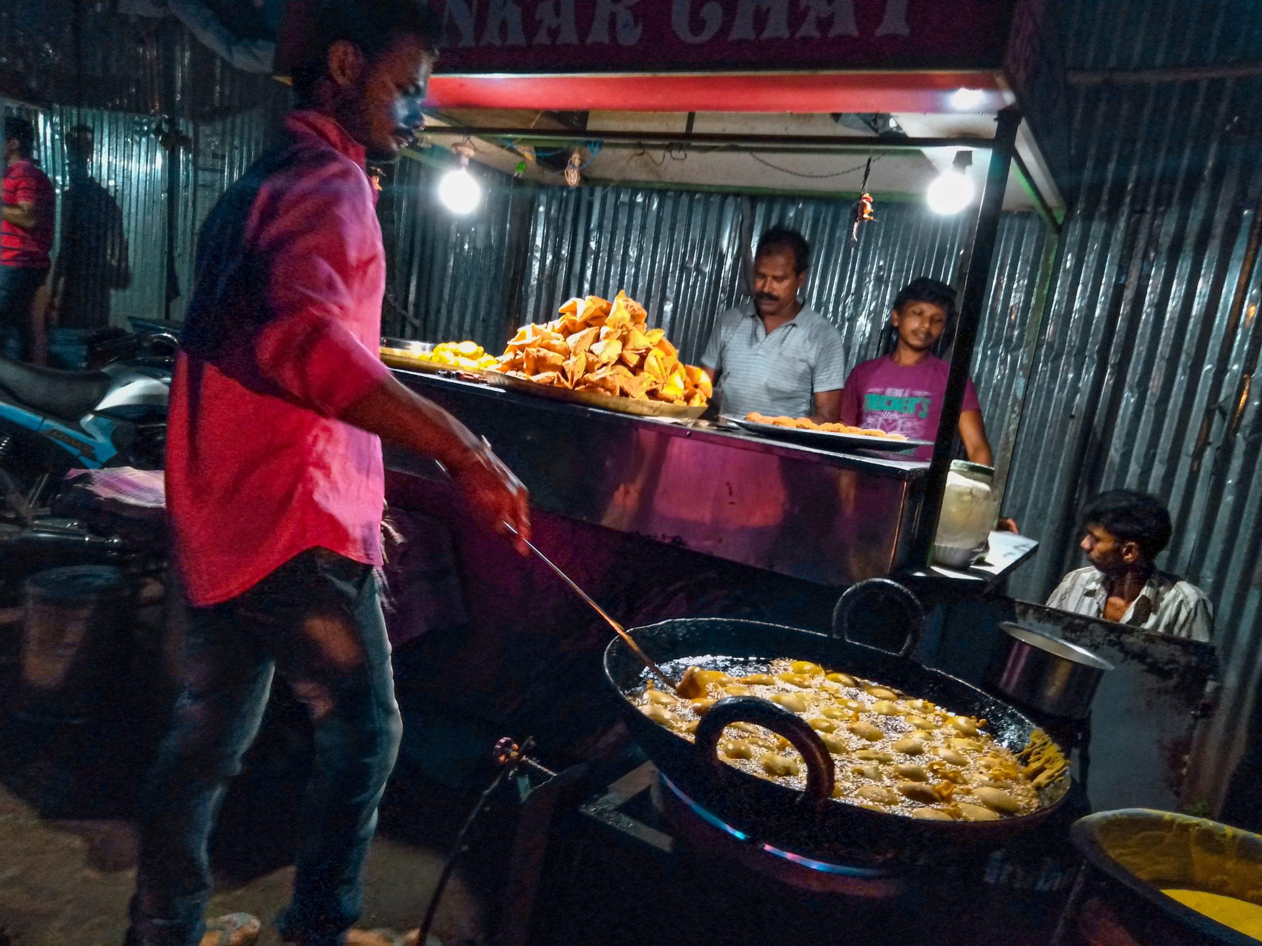 Samosa stall at street