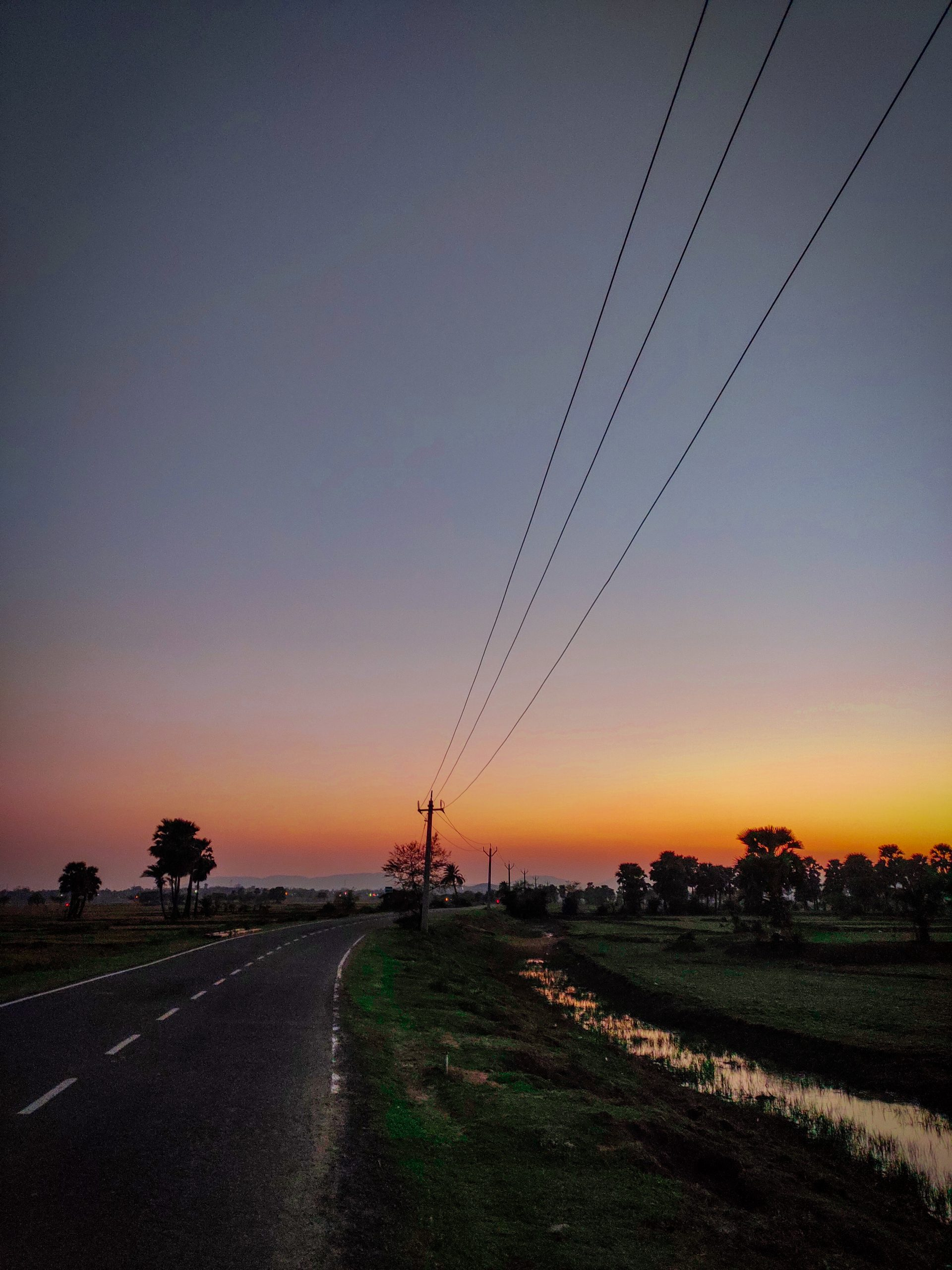 Scene after sunset