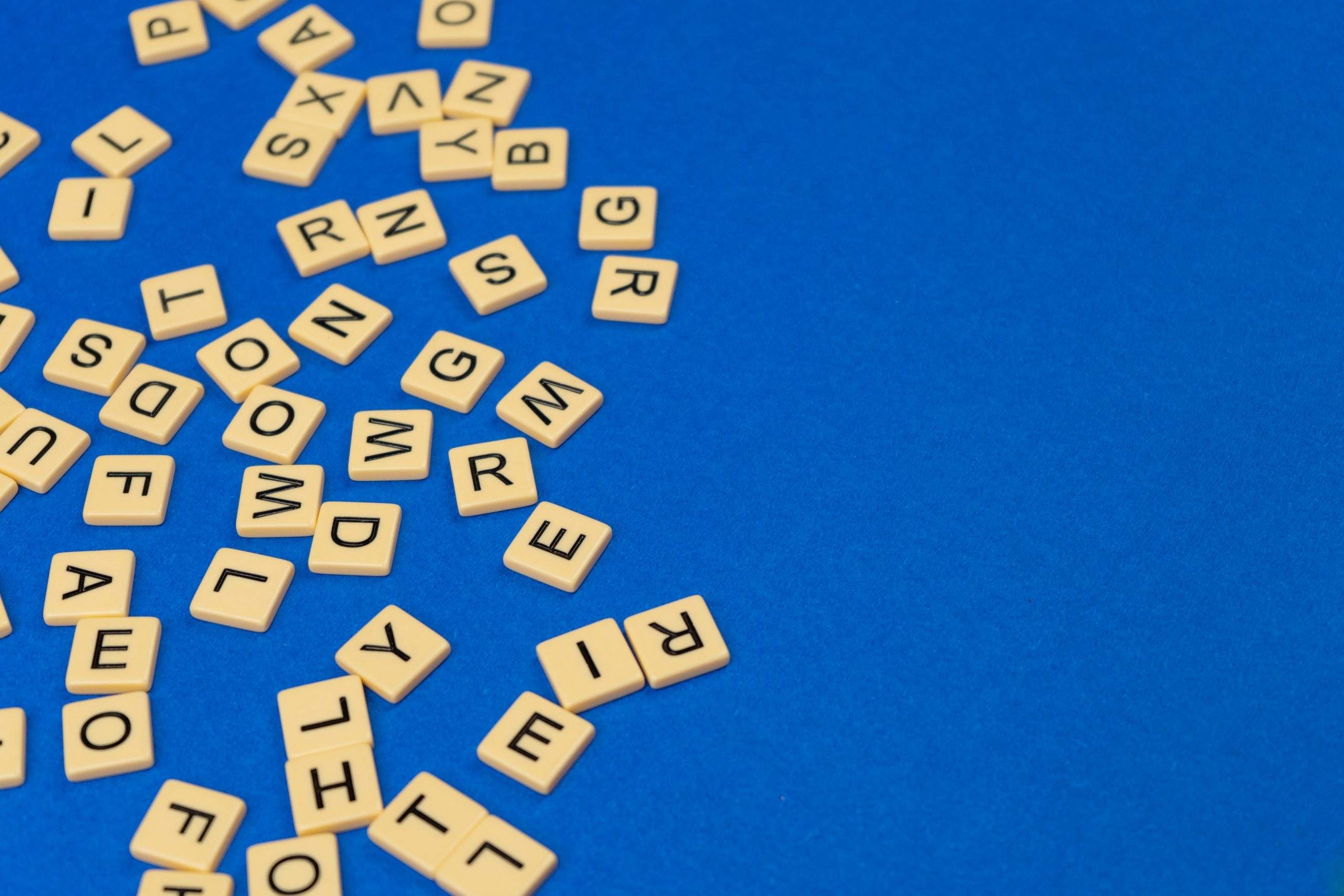 Scrabble top view