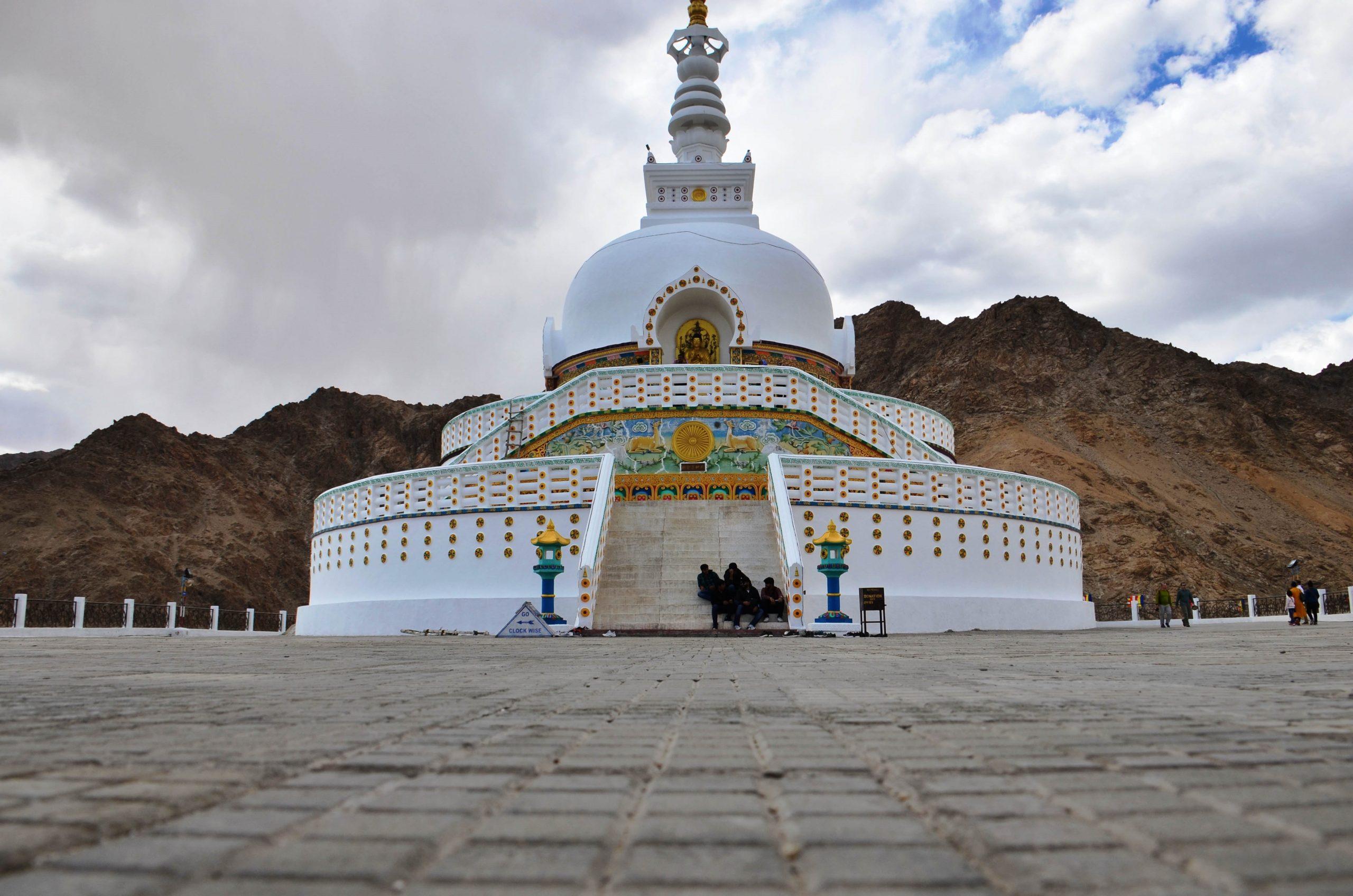 Shanti Stupa Monument in Leh