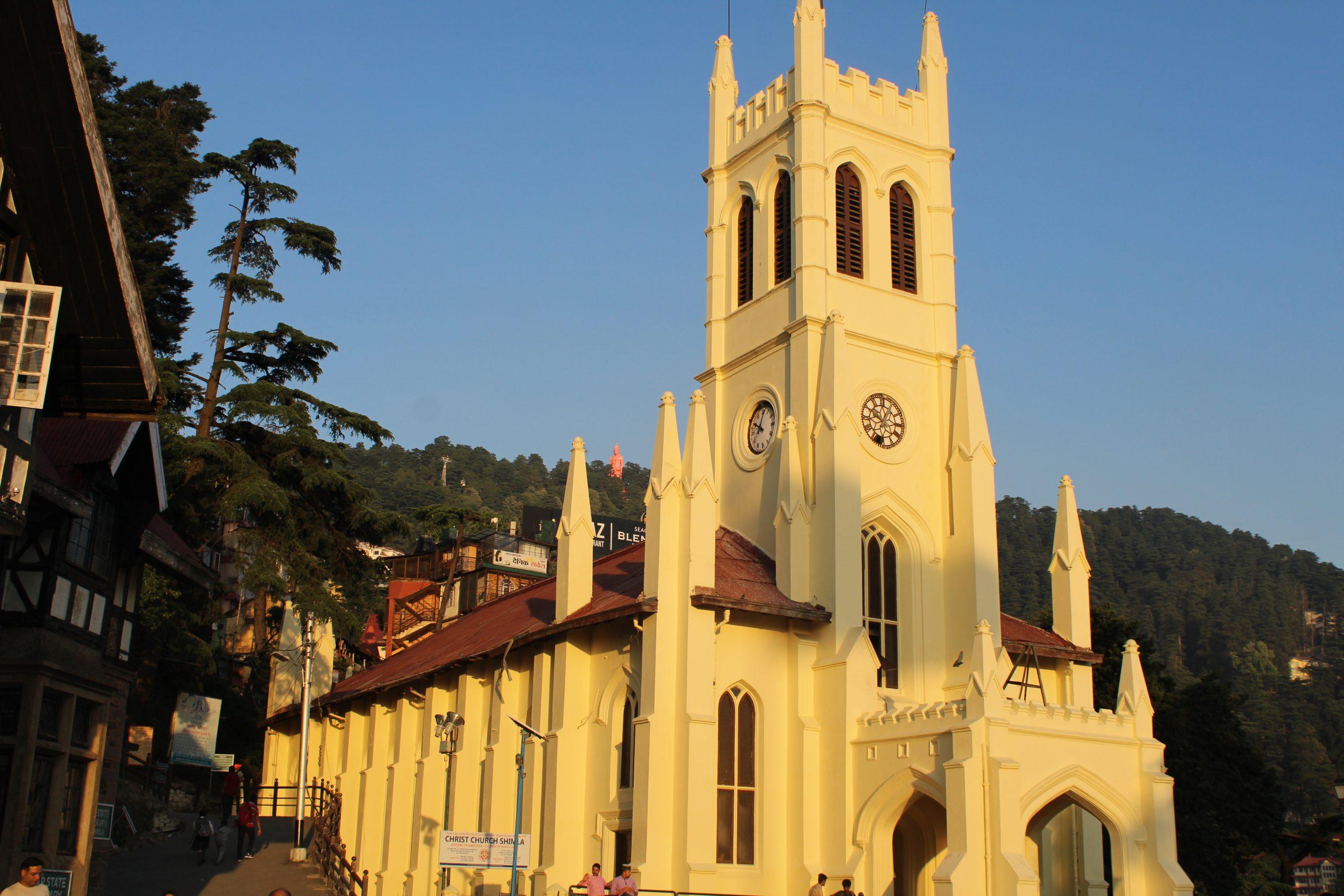 Church at the famous ridge in Shimla.