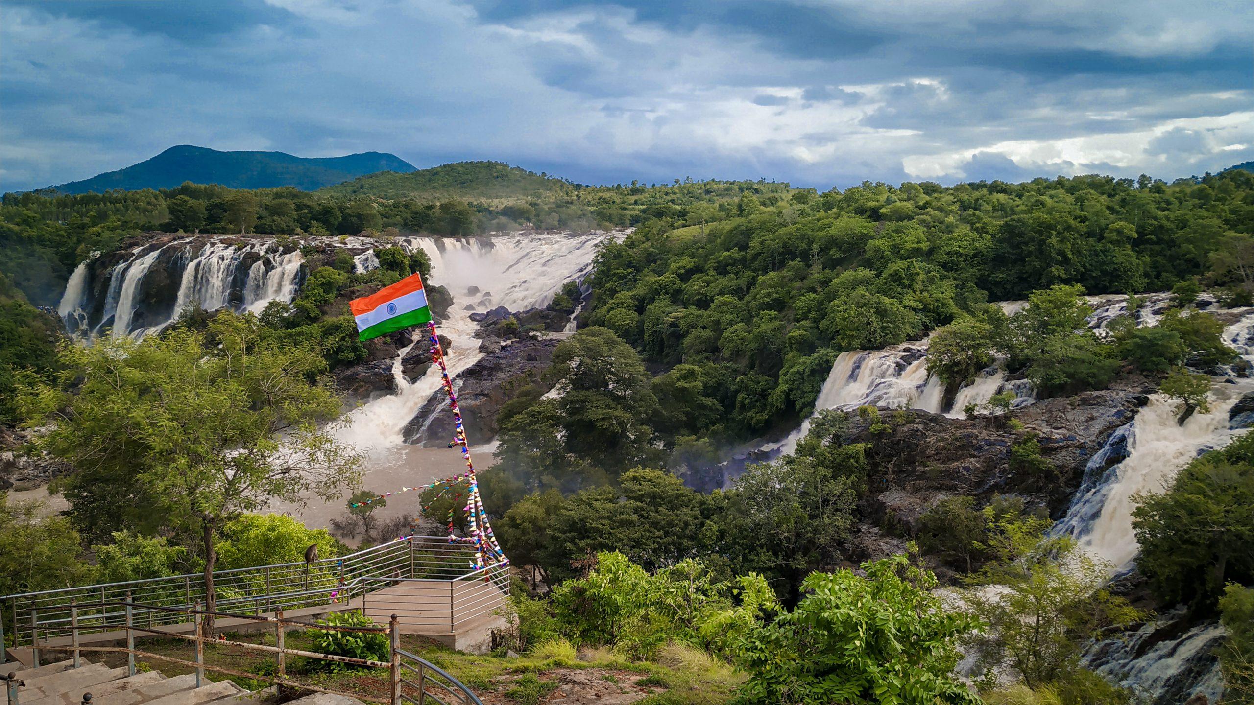 Shivasamudram Falls Scenery