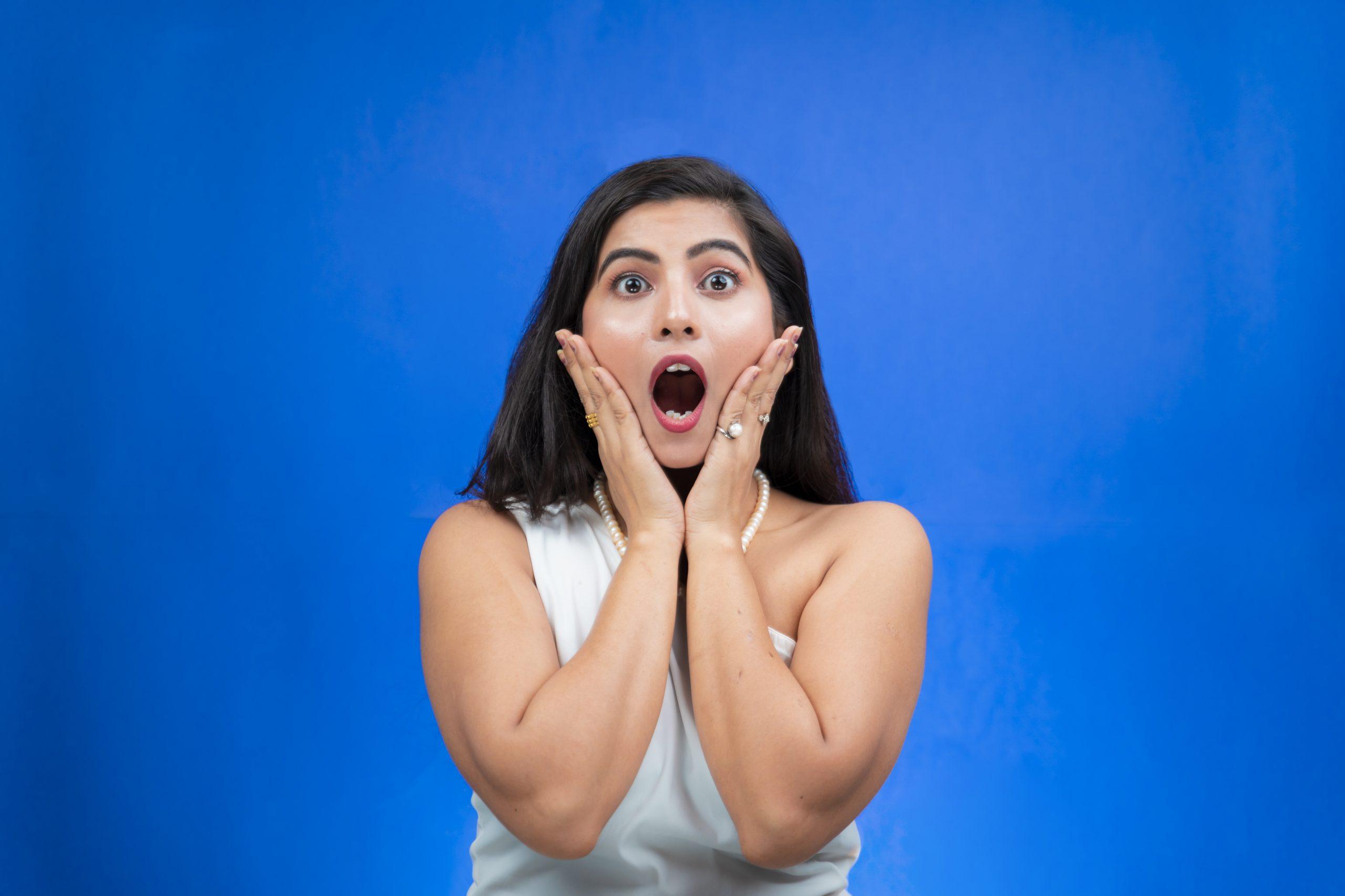 Shocked Indian girl