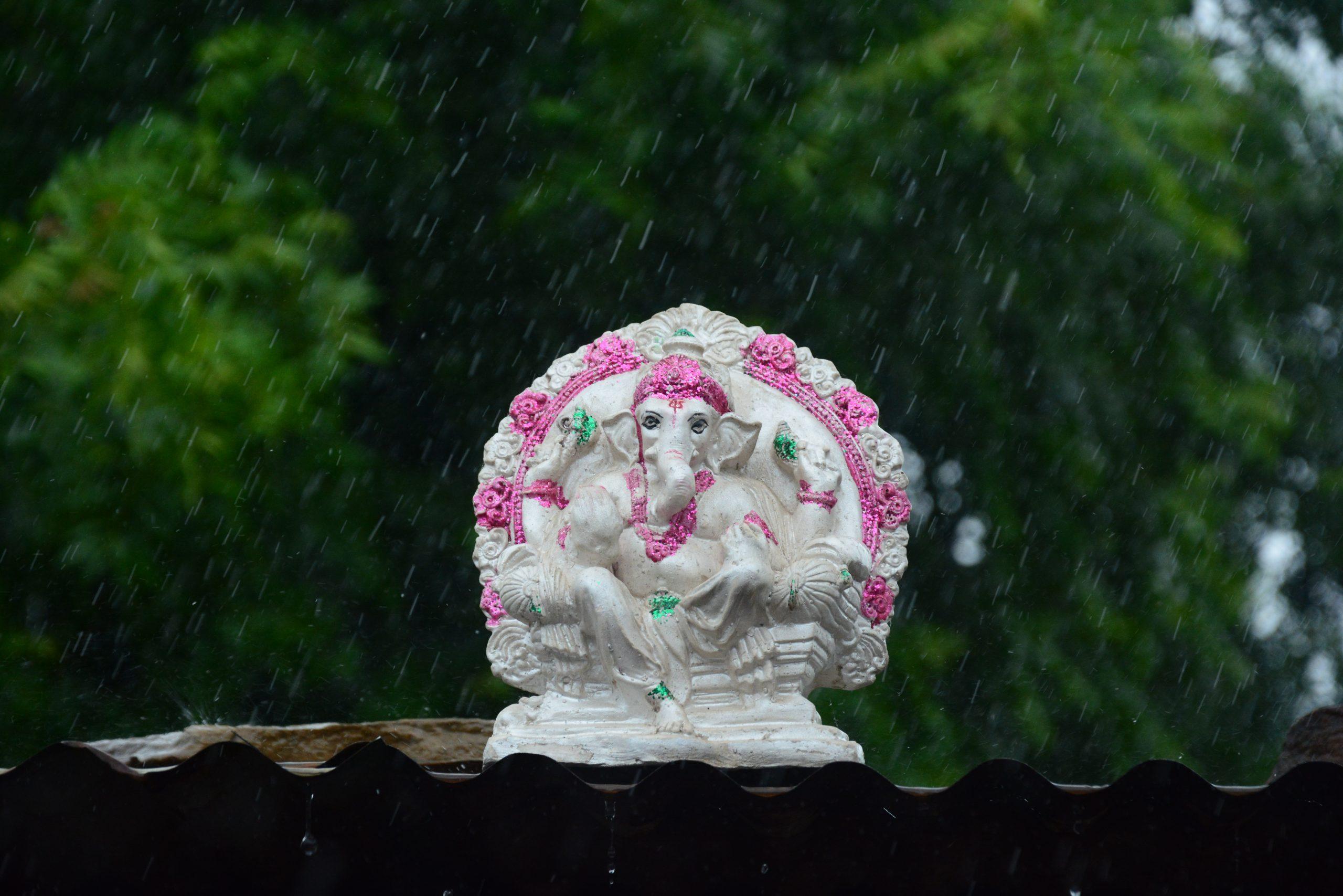 Shree Ganesha in rain