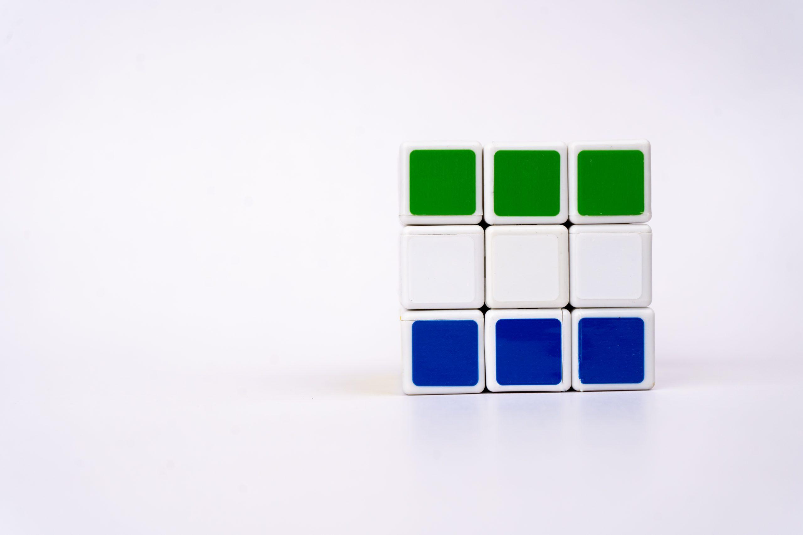 Sierra Leone flag on cube