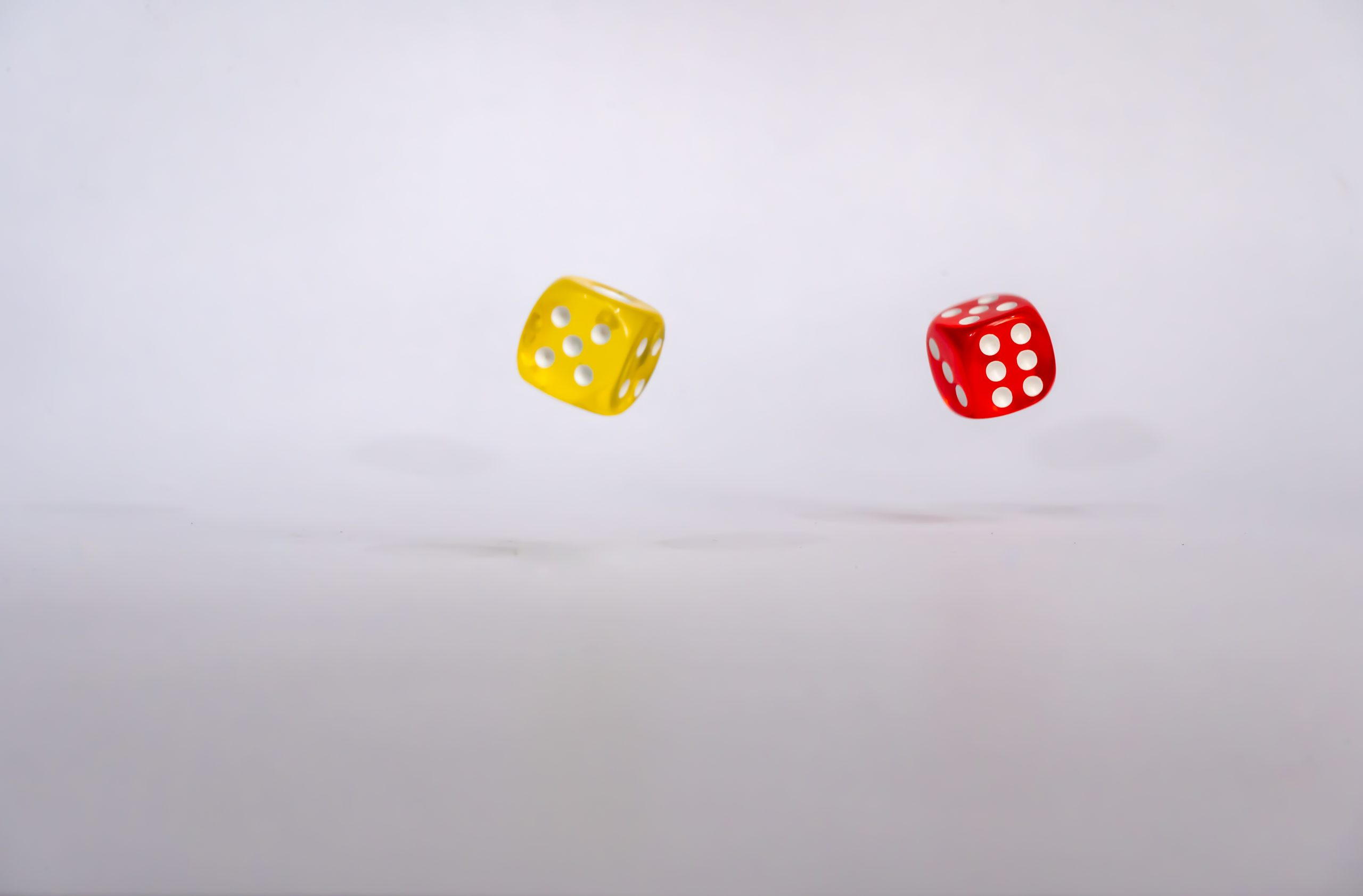 Six and five on rolling dice