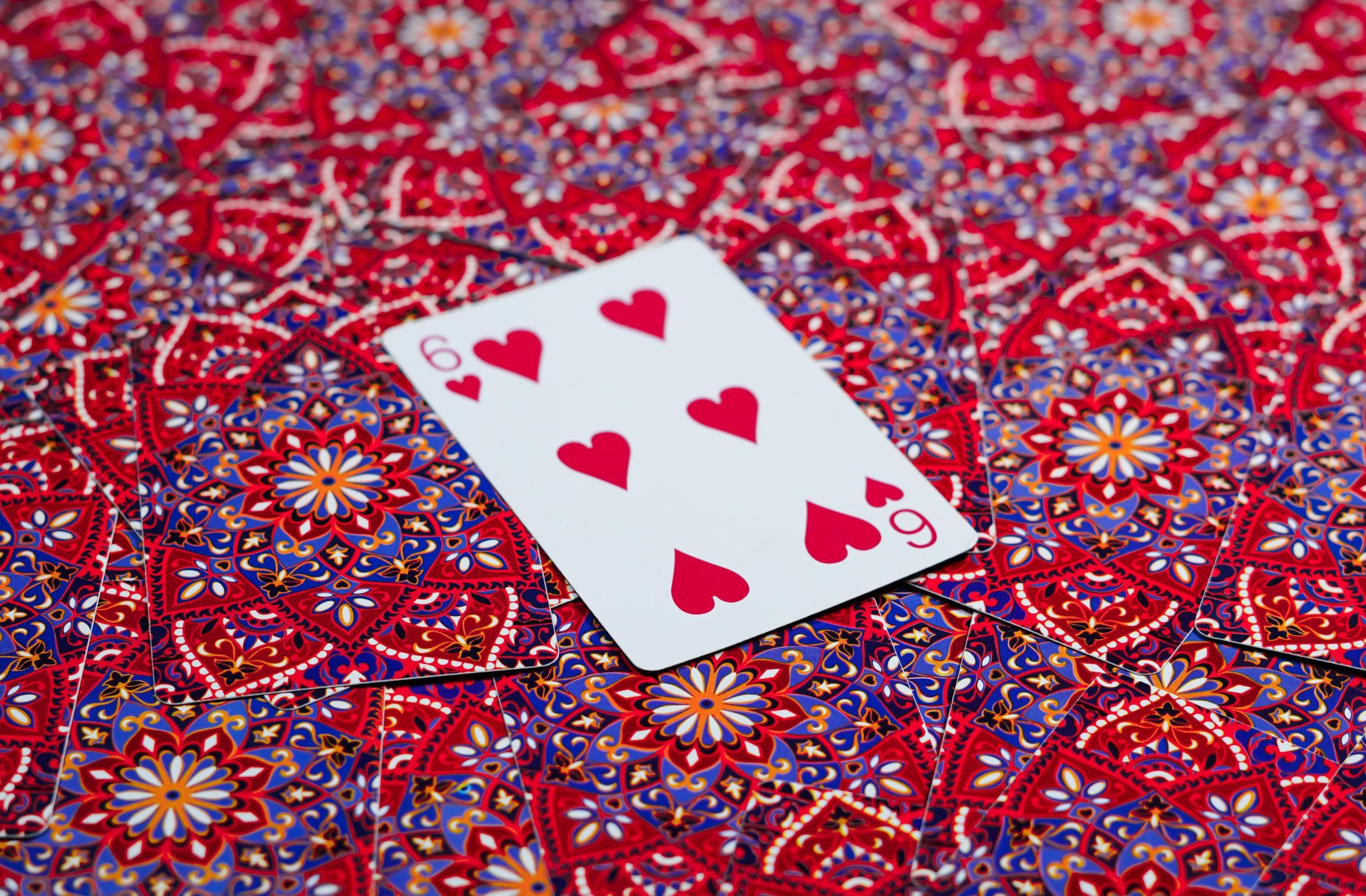 Six of Heart Card