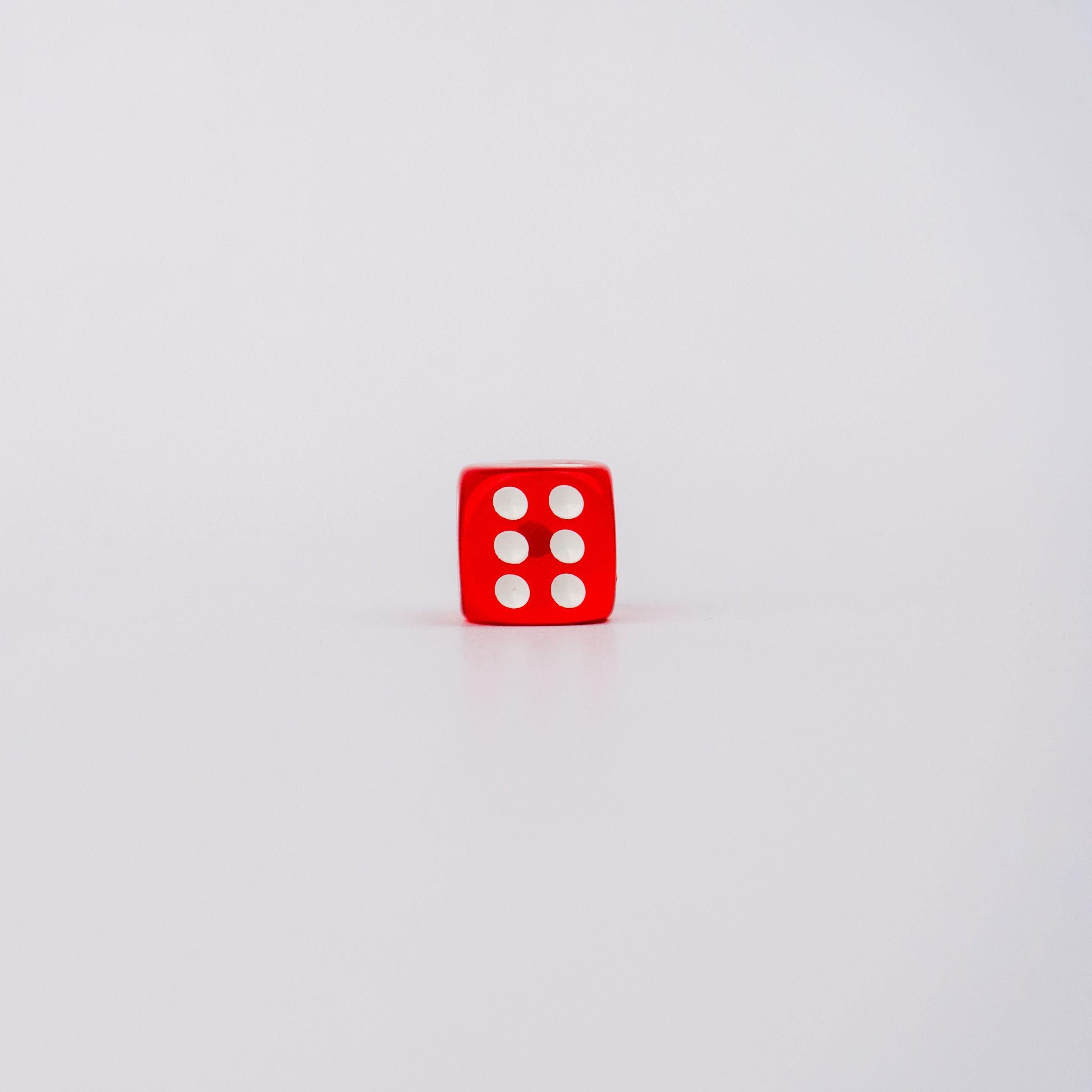 Six on dice