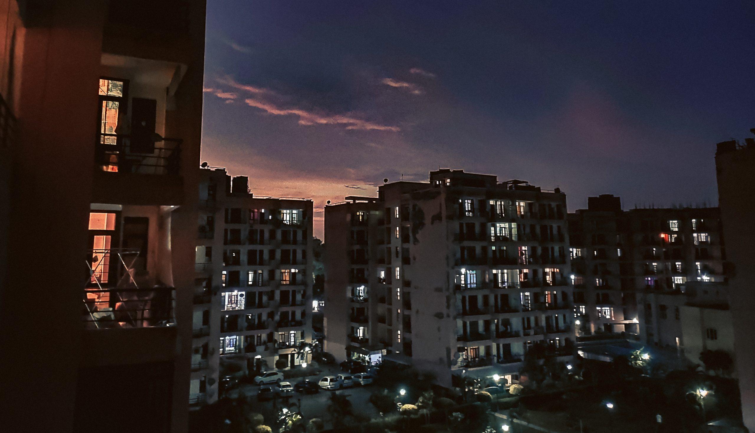 Evening sky view