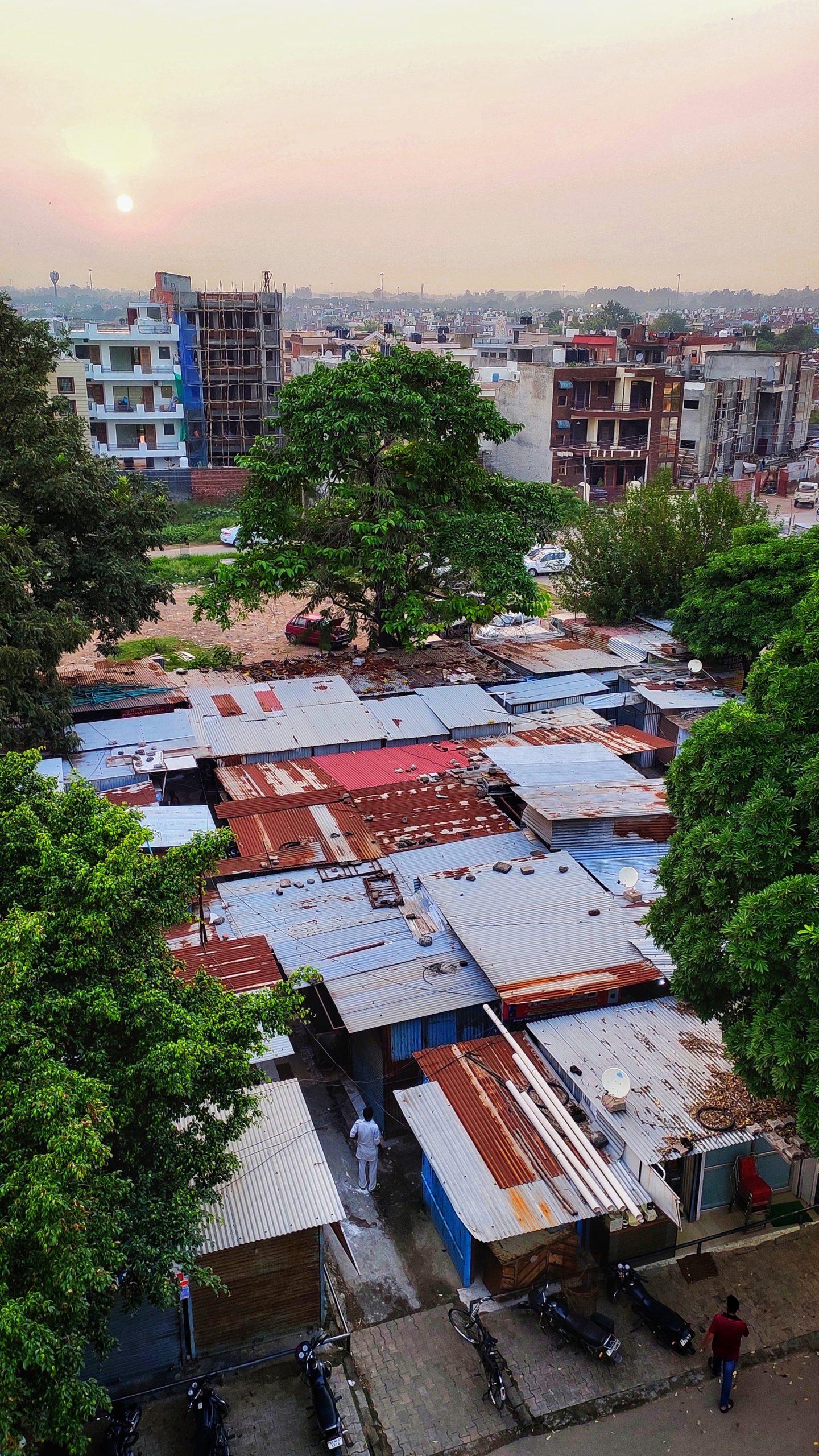 Slum area of a city
