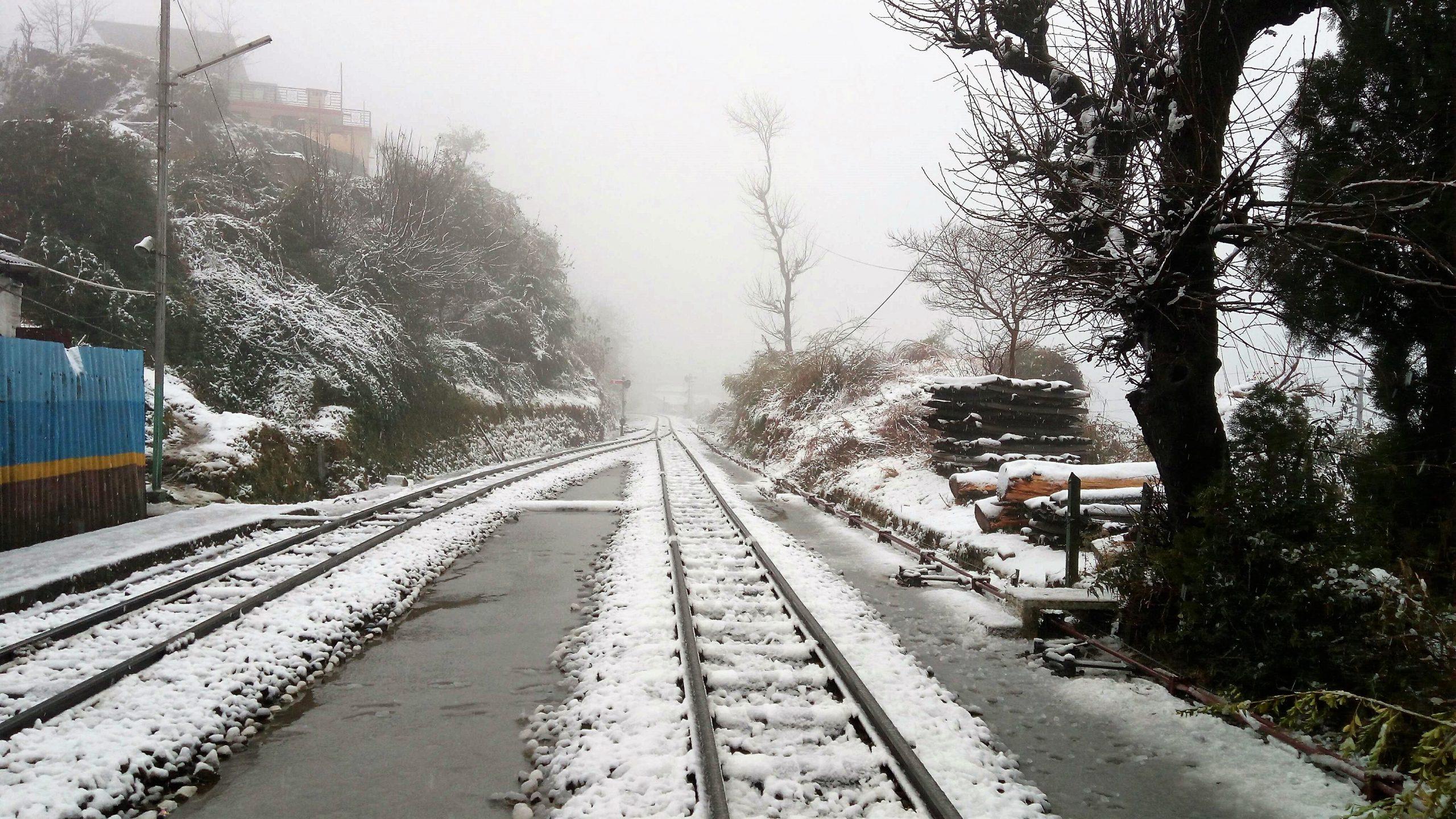 Snow Clad Railway Tracks