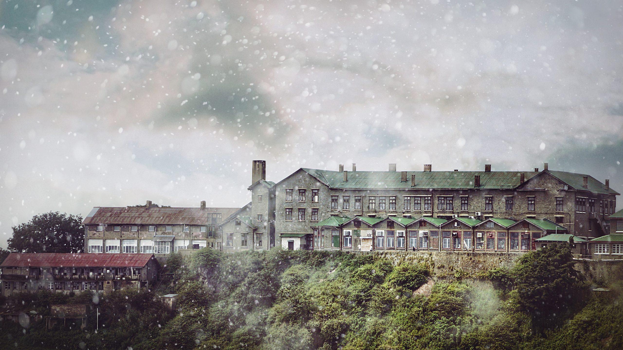 Snowfall at hills
