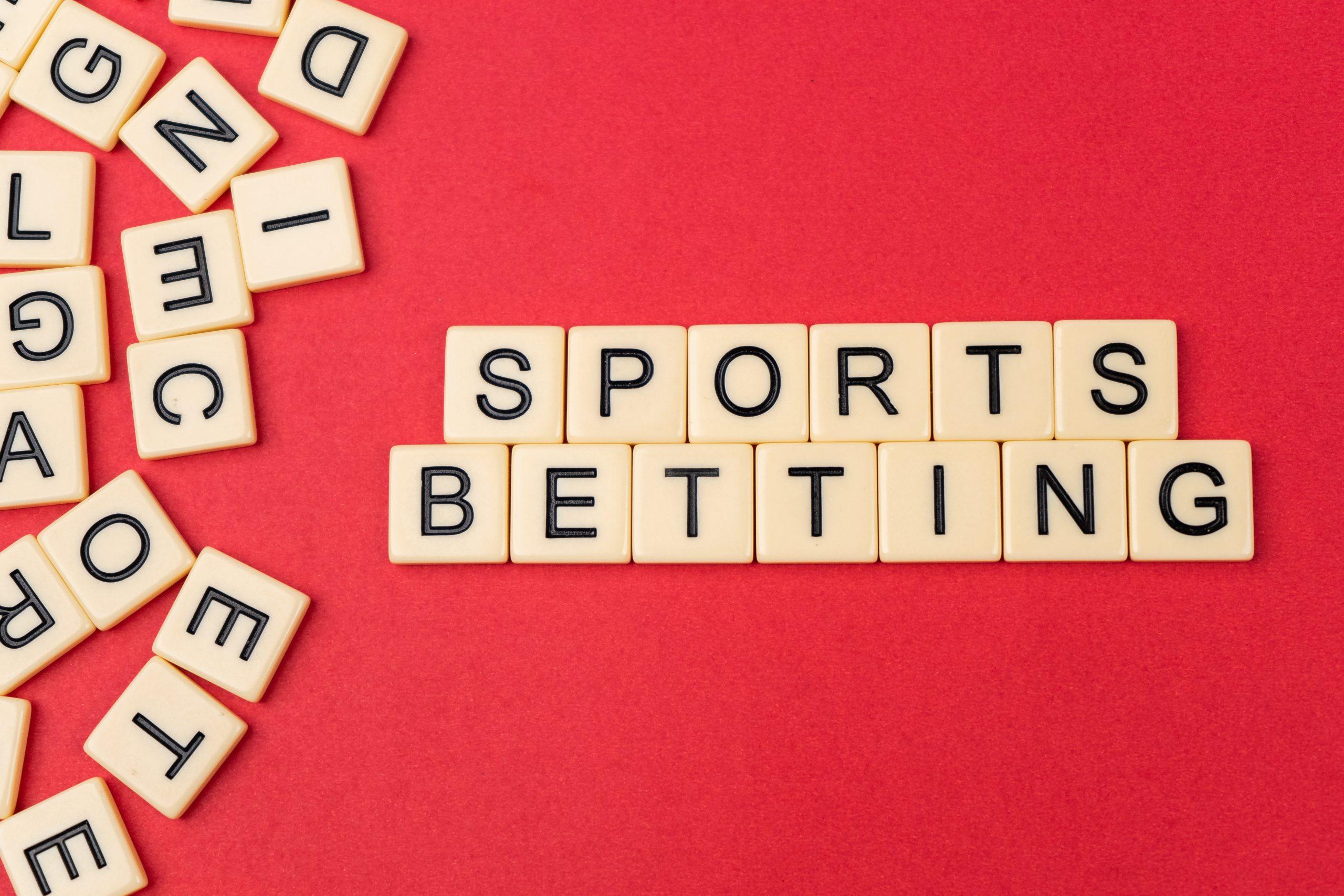 Sports betting written with scrabble