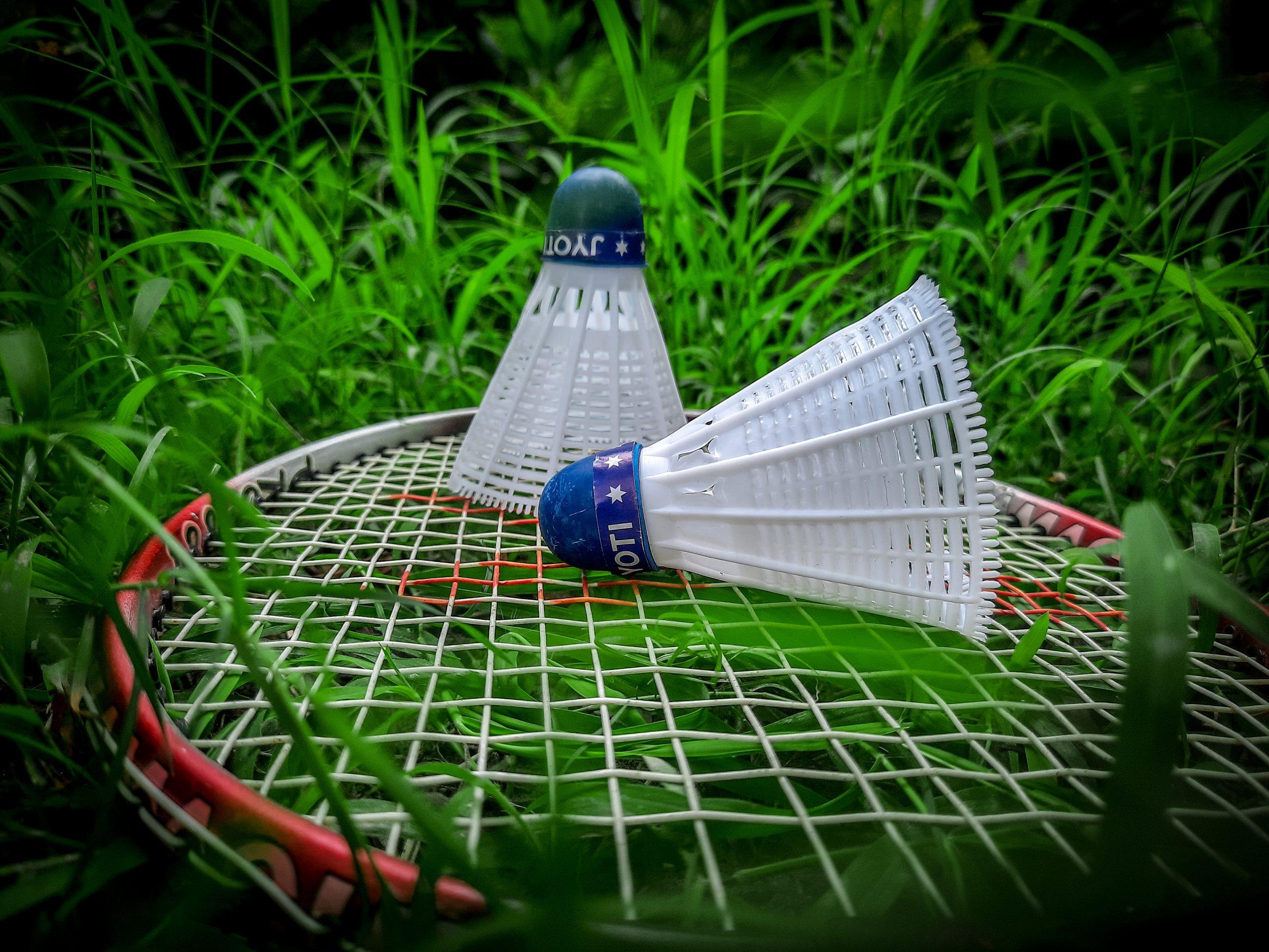 Badminton Raquet and Shuttlecock