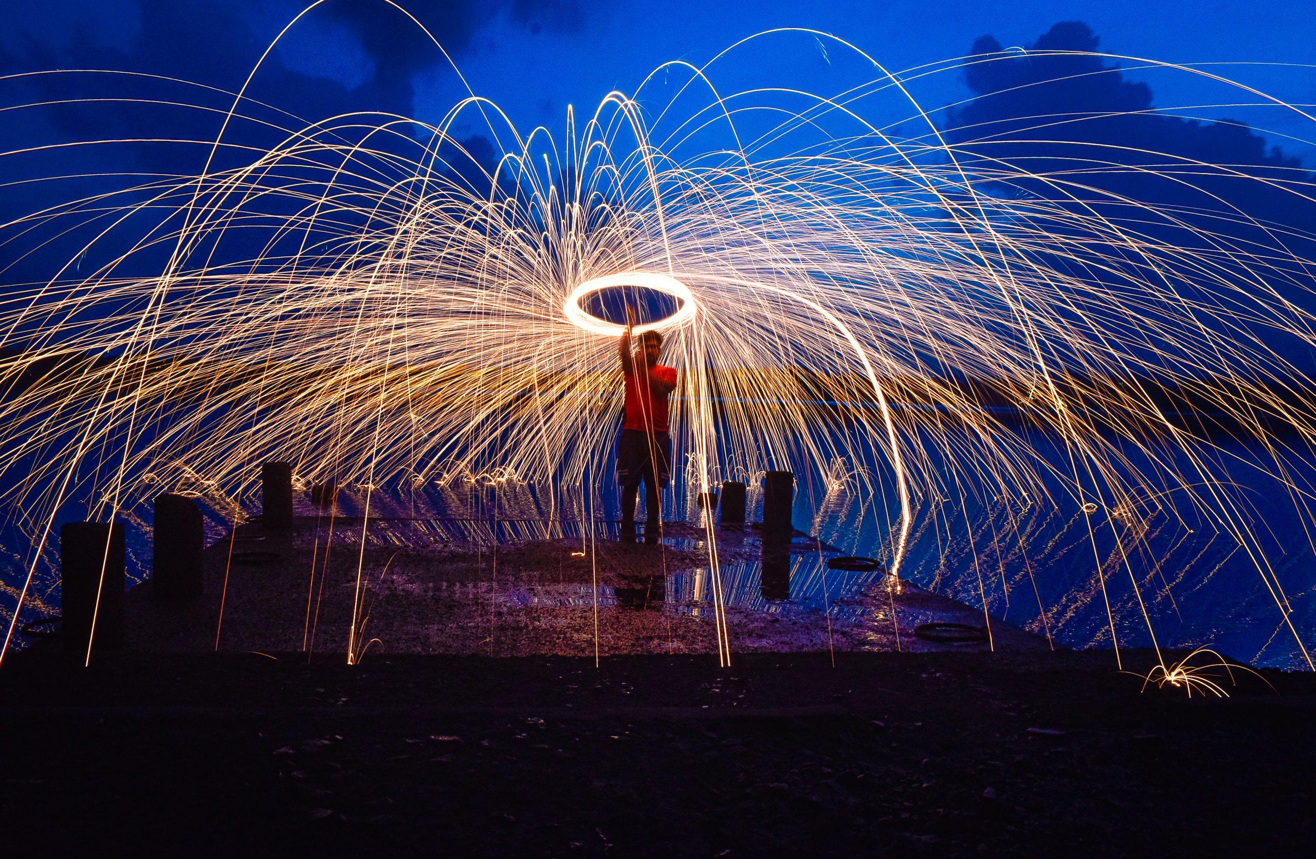 fireworks during festive celebrations