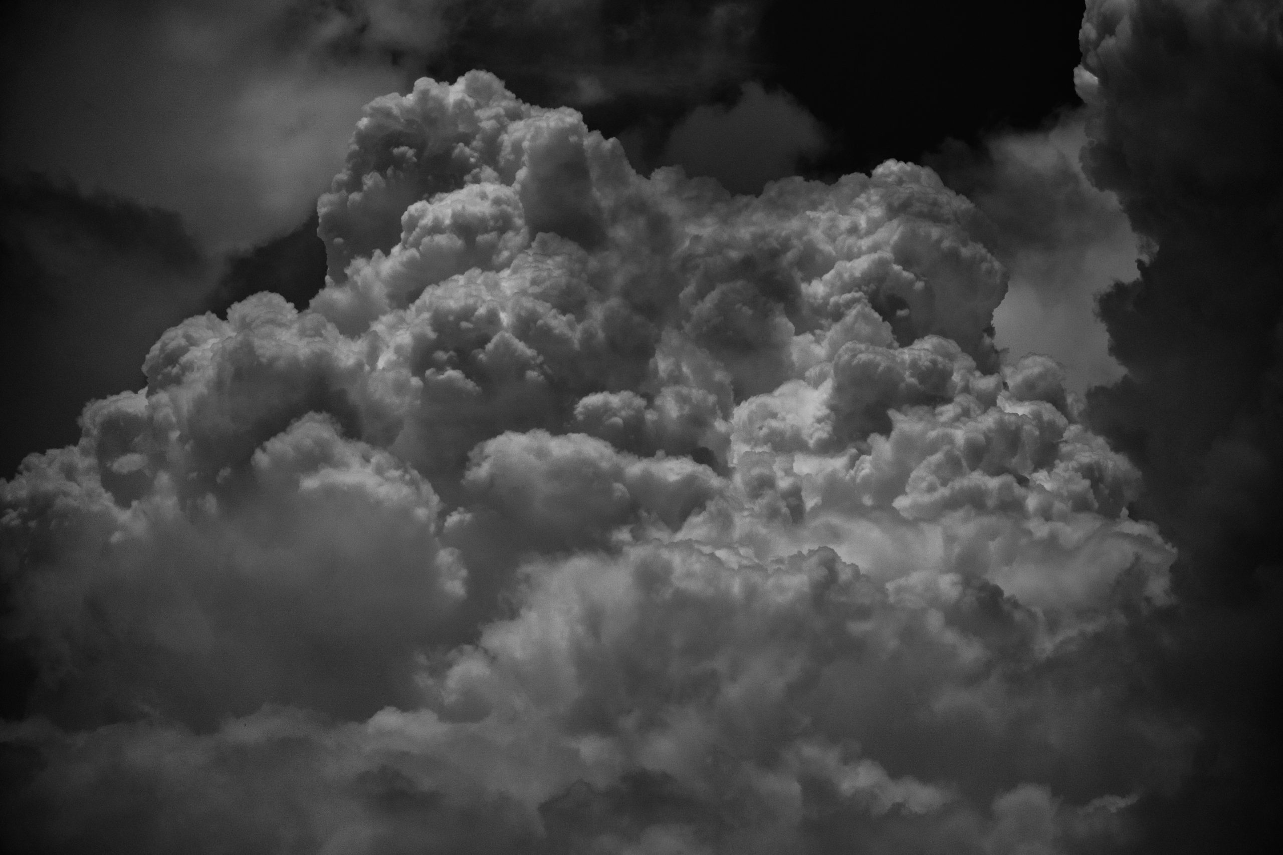 Stormy clouds in sky