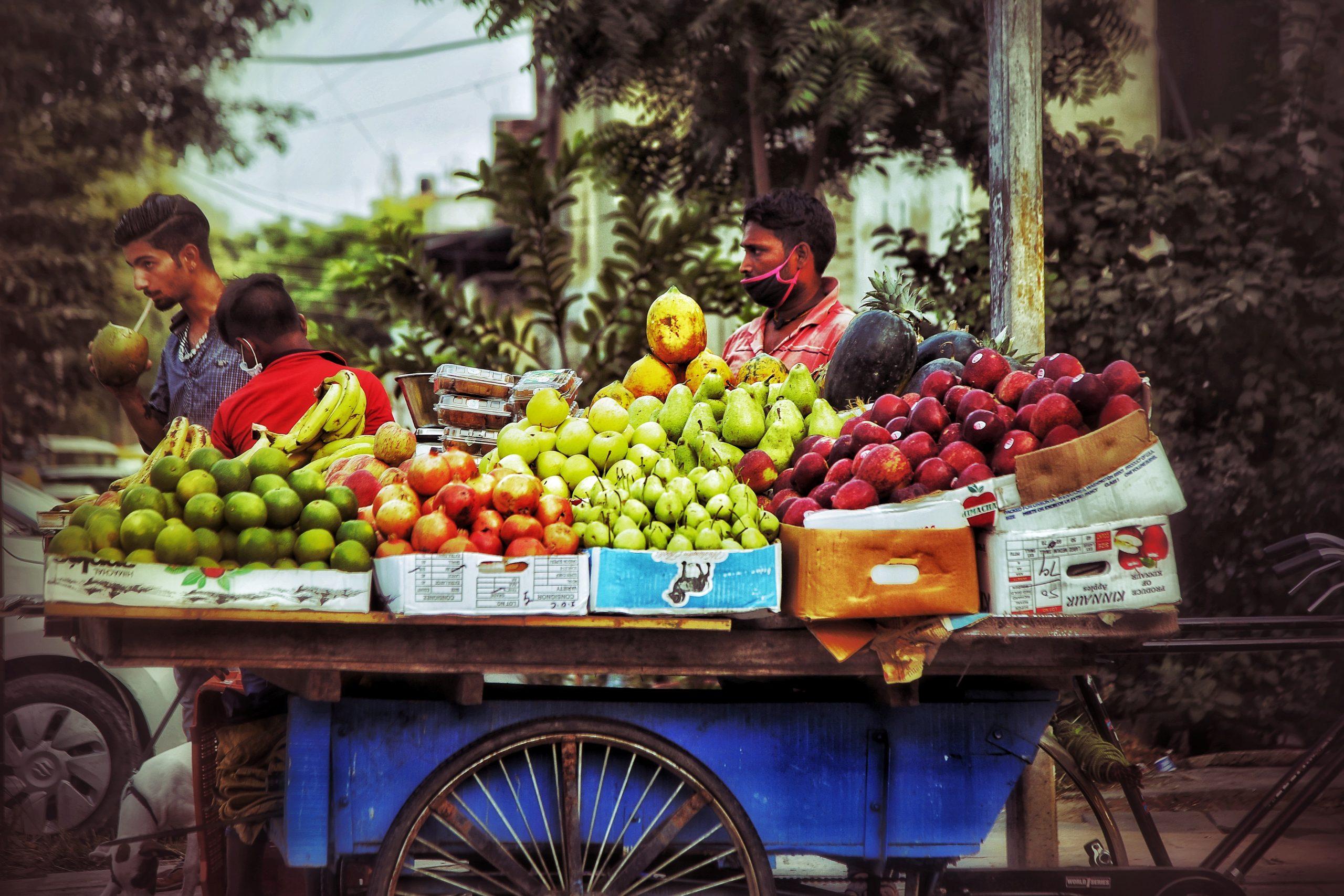 Street fruits seller